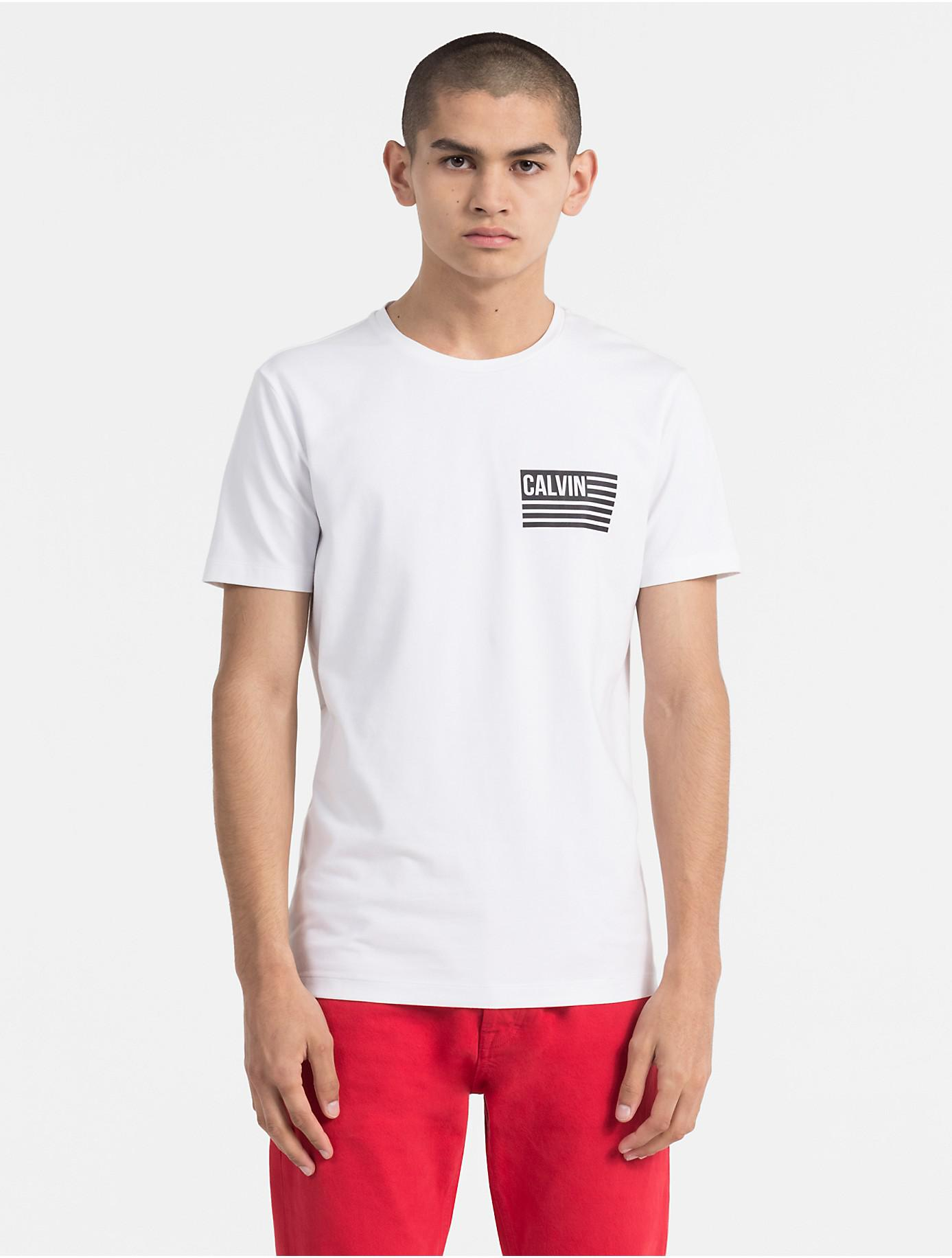 Clearance Sale Online Slim Flag Logo T-shirt Calvin Klein Under 50 Dollars 5B7CaW