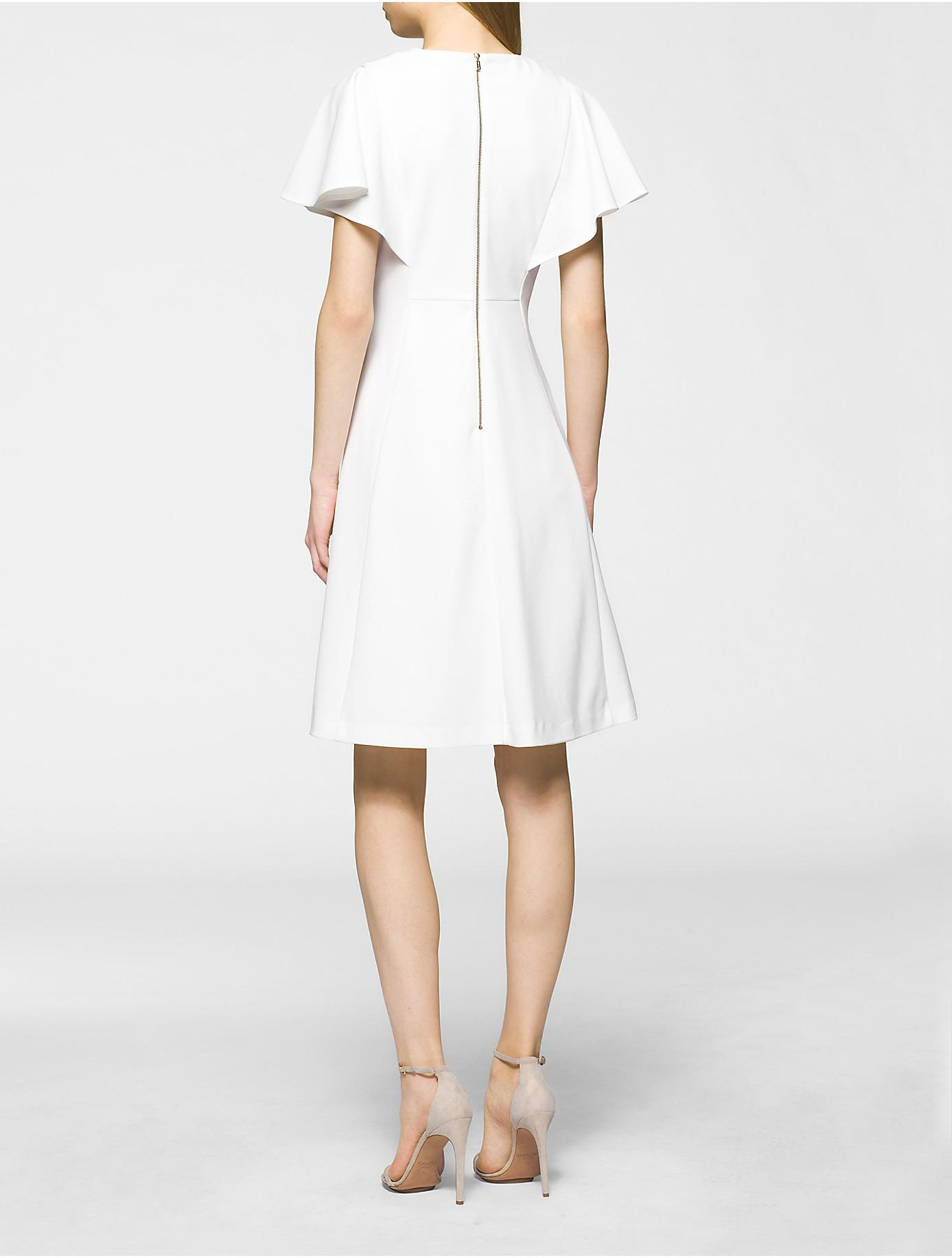 Lyst Calvin Klein 205w39nyc Flutter Sleeve Fit Flare