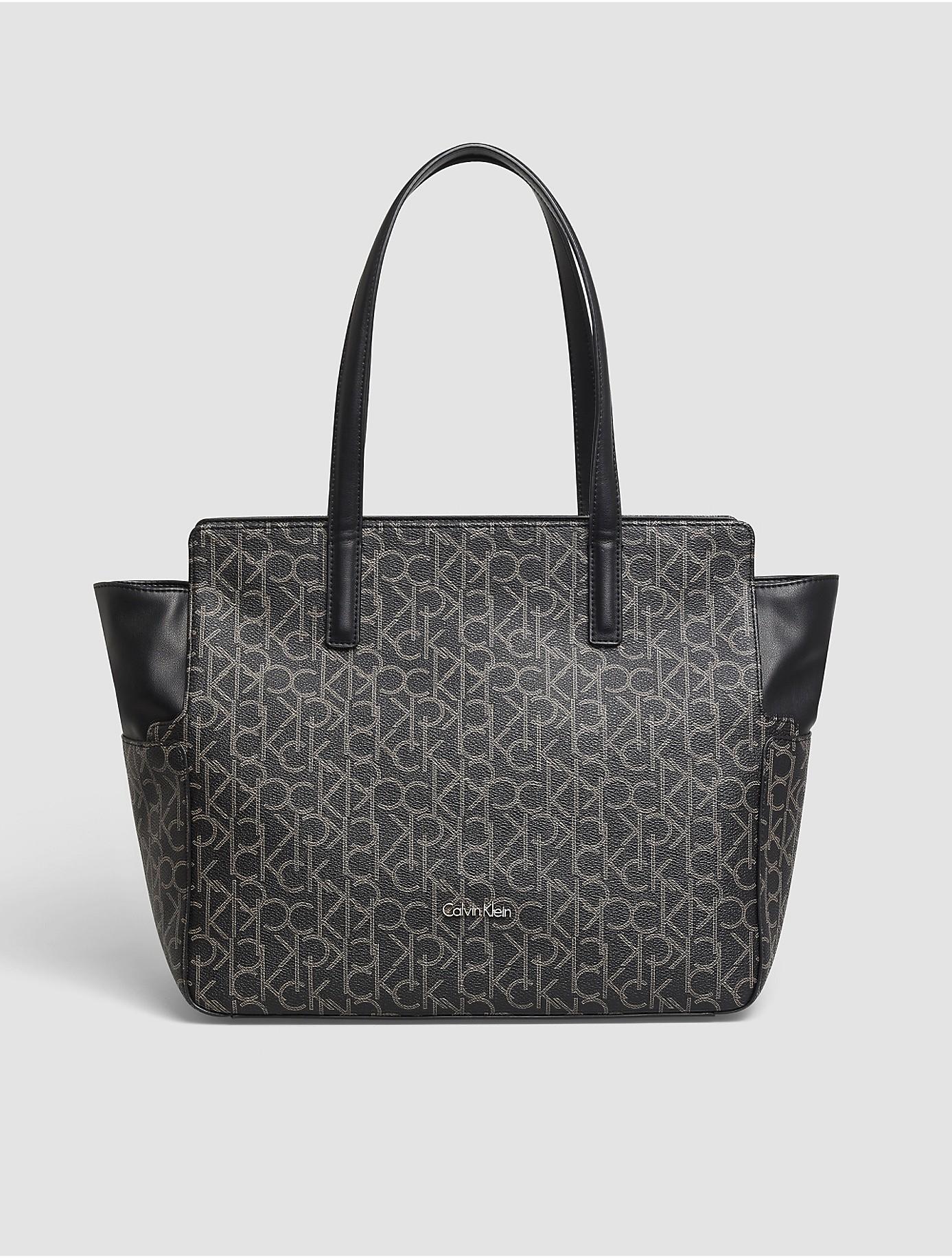 Cool  Calvin Klein Womens Sadie Center Zip Satchel Carryall Shoulder Bag