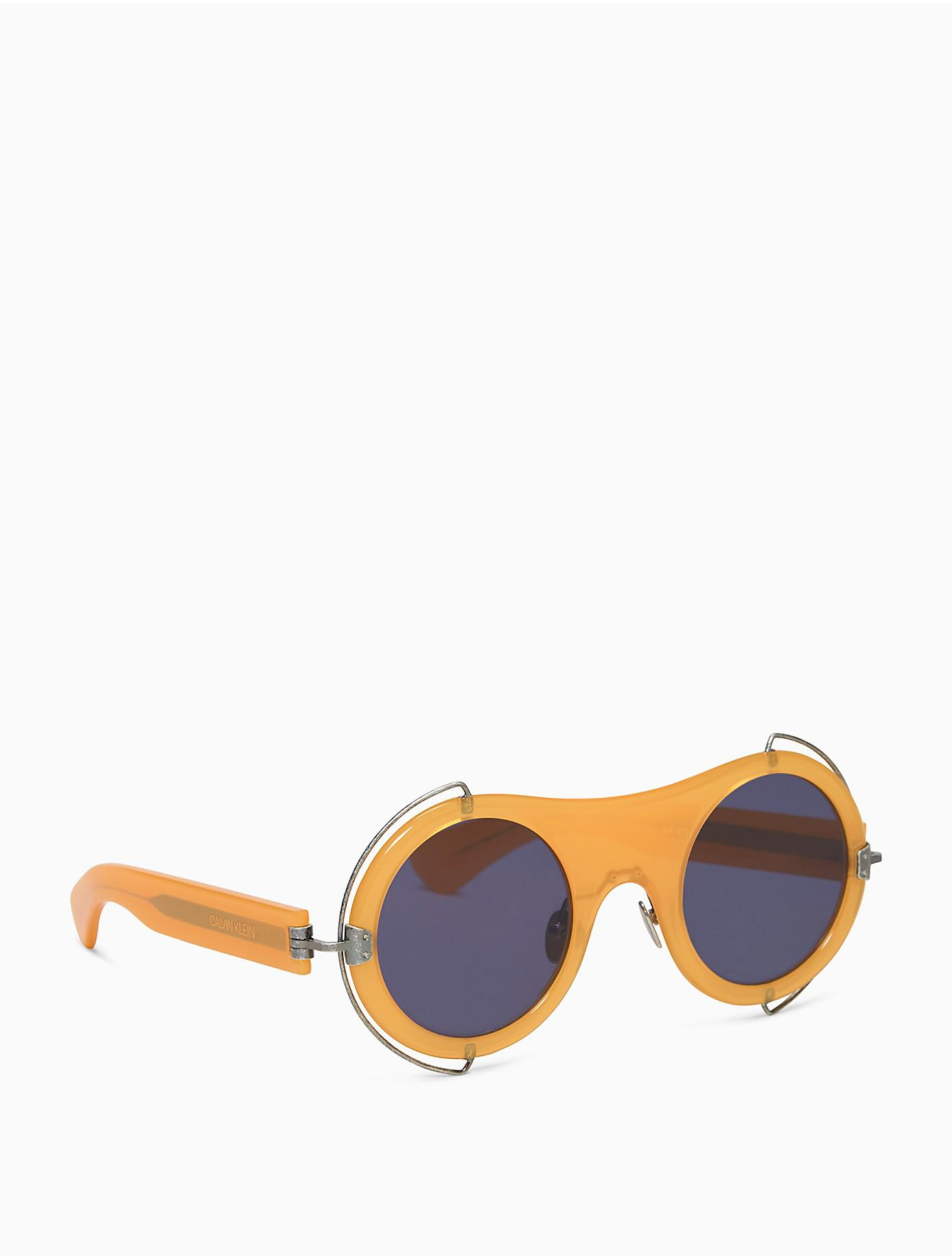 round sunglasses - Yellow & Orange CALVIN KLEIN 205W39NYC 1q6uaW2ND7