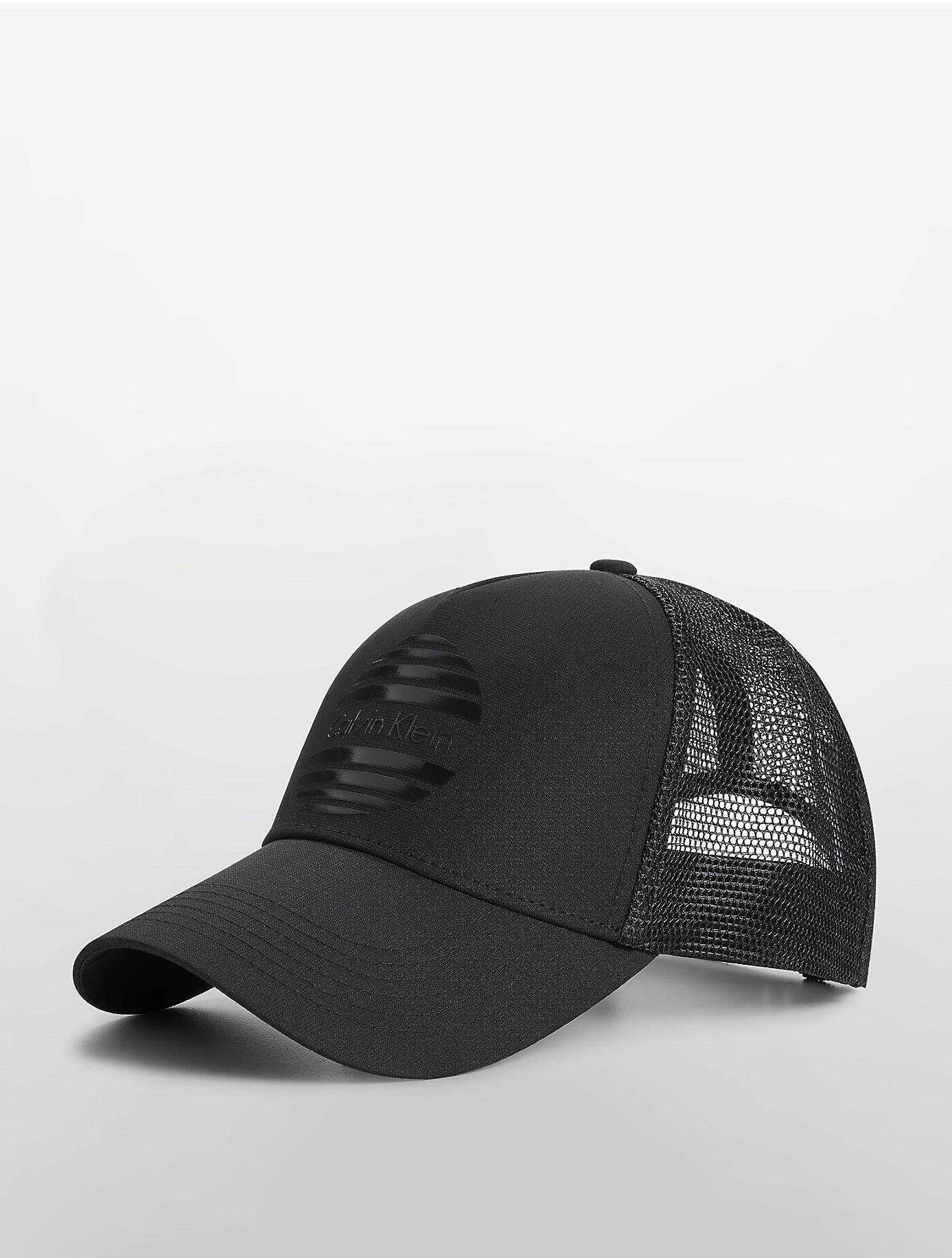 8409c9e9f02 Lyst - Calvin Klein Shutter Logo Trucker Cap in Black for Men