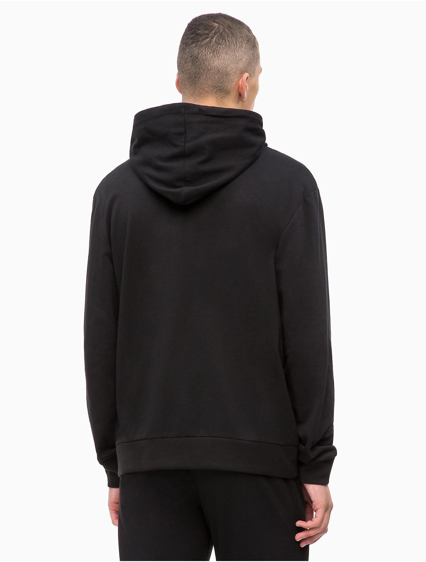 eaf402dc7818 Calvin Klein - Black Monogram Logo Lounge Zip Hoodie for Men - Lyst. View  fullscreen