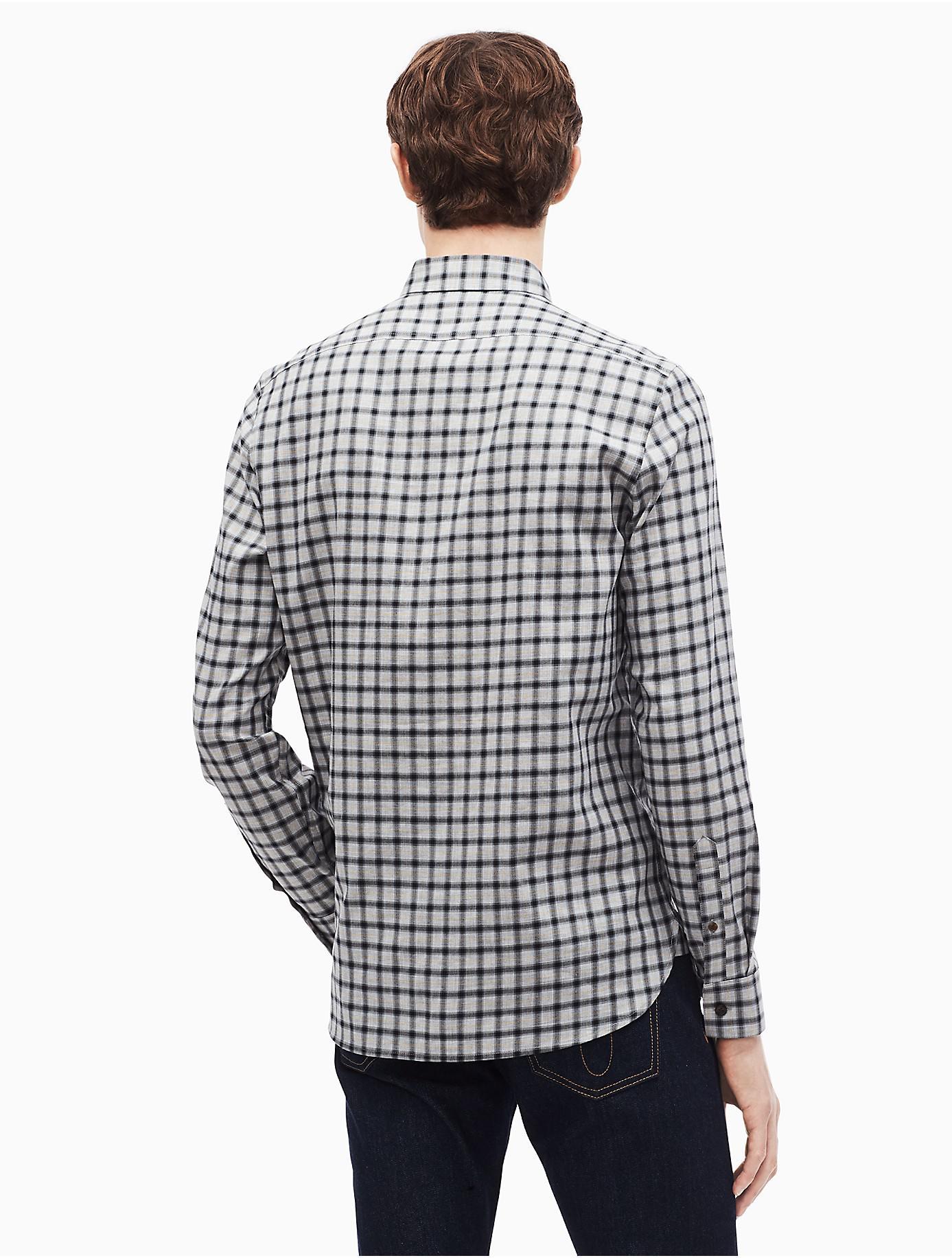 4ad1bfc2a47 Calvin Klein - Black Dobby Check Button Down Shirt for Men - Lyst. View  fullscreen