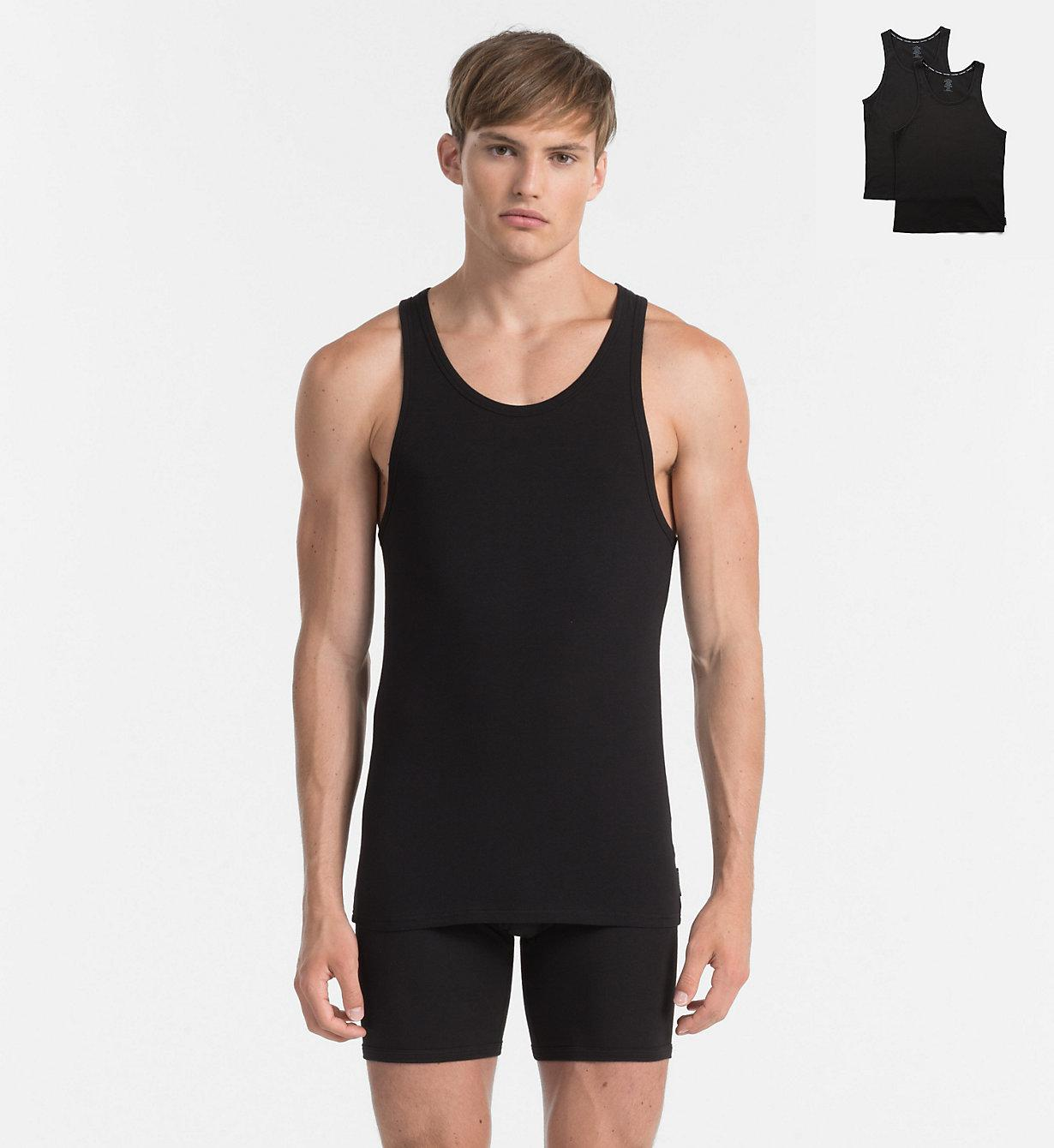 5a08ea6753 Calvin Klein 2 Pack Tank Tops - Modern Cotton in Black for Men - Lyst