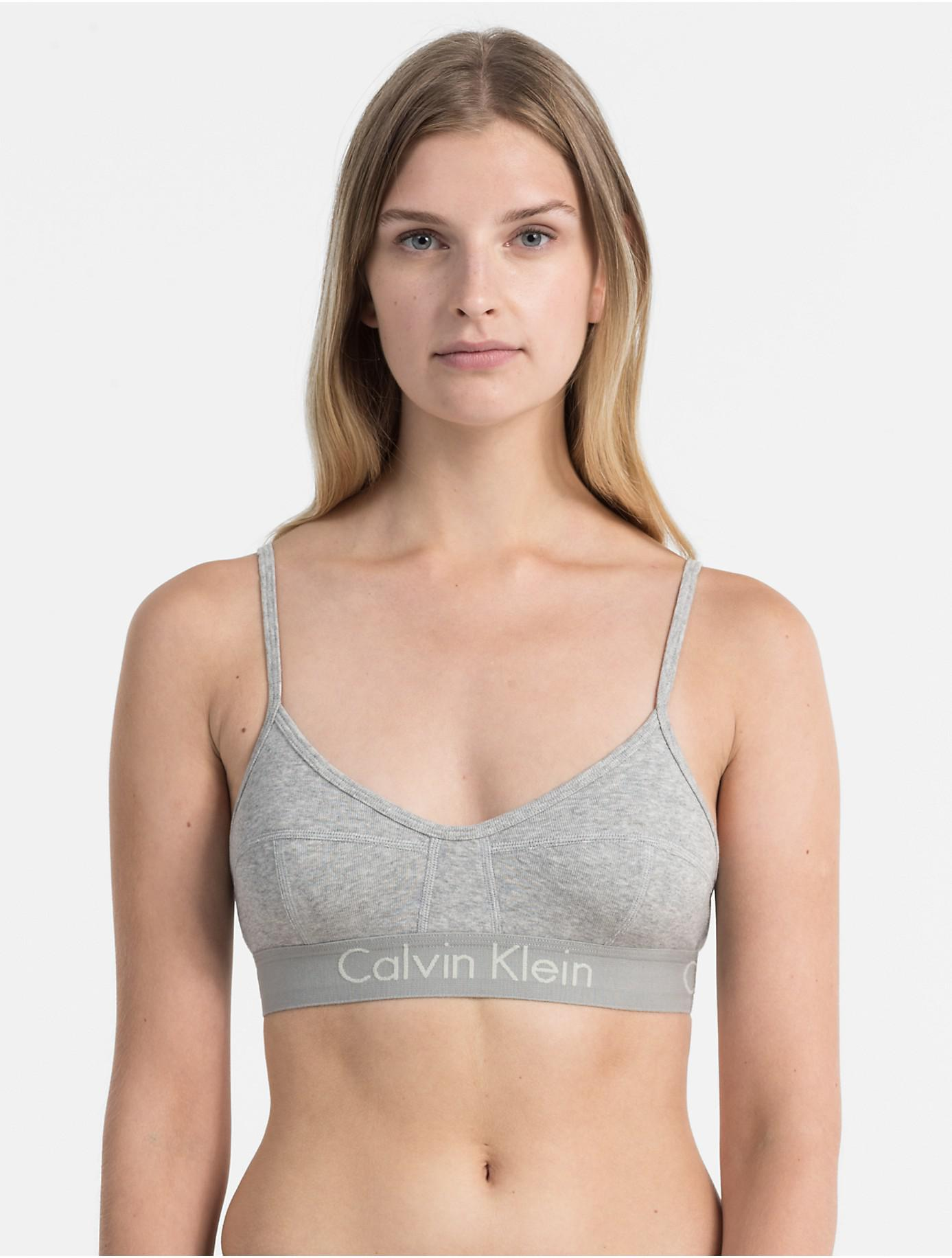 d21de41b444a1 Lyst - Calvin Klein Body Unlined Bralette in Gray