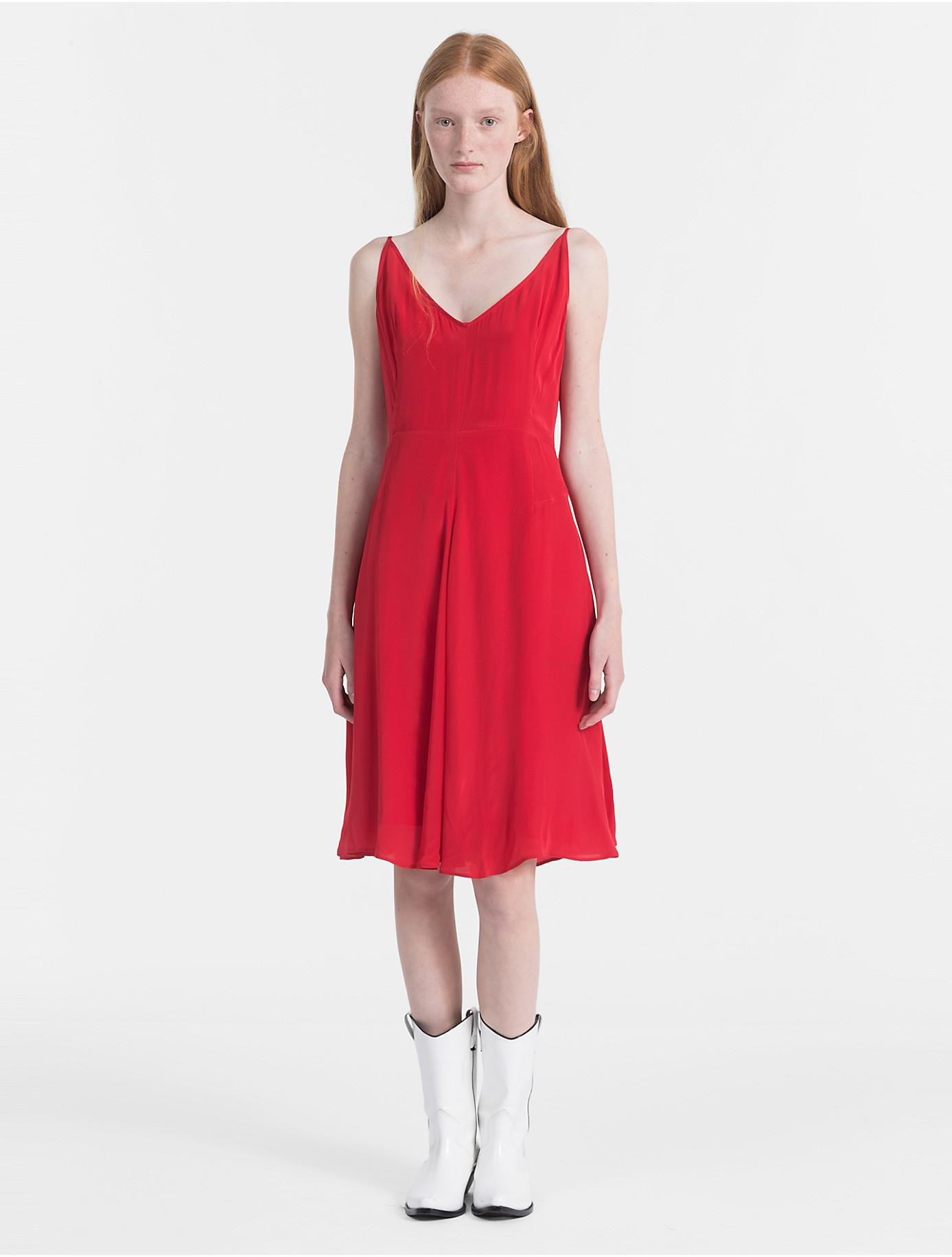 Crepe Slip Dress Calvin Klein New Arrival Huge Surprise Sale Affordable Buy Cheap Visit Free Shipping Many Kinds Of dNI71