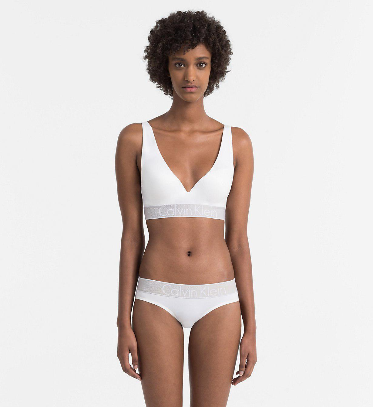 533529b657af1 Calvin Klein - White Plunge Push-up Bra - Customized Stretch - Lyst. View  fullscreen