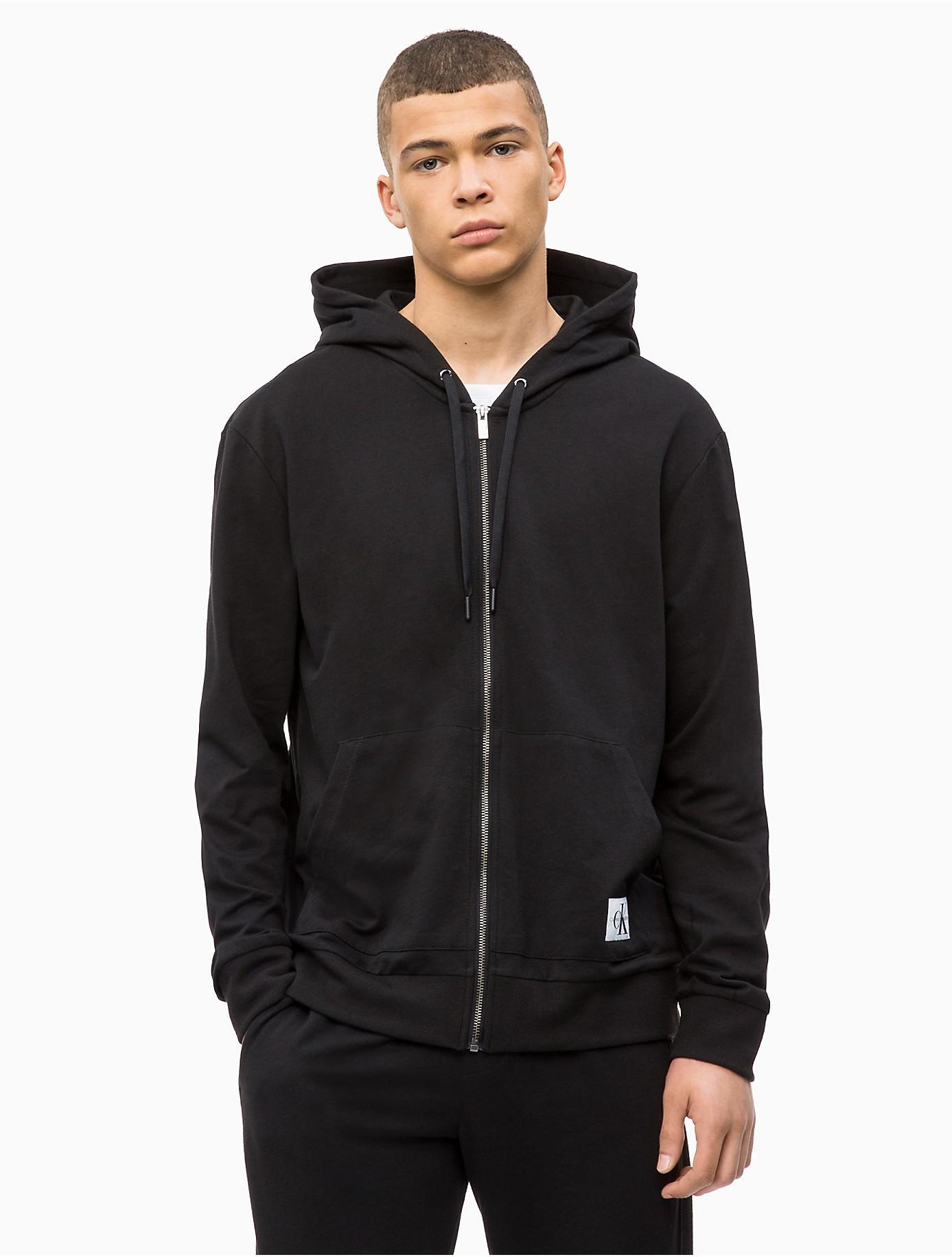 c2cfcb3afc29 Lyst - Calvin Klein Monogram Logo Lounge Zip Hoodie in Black for Men