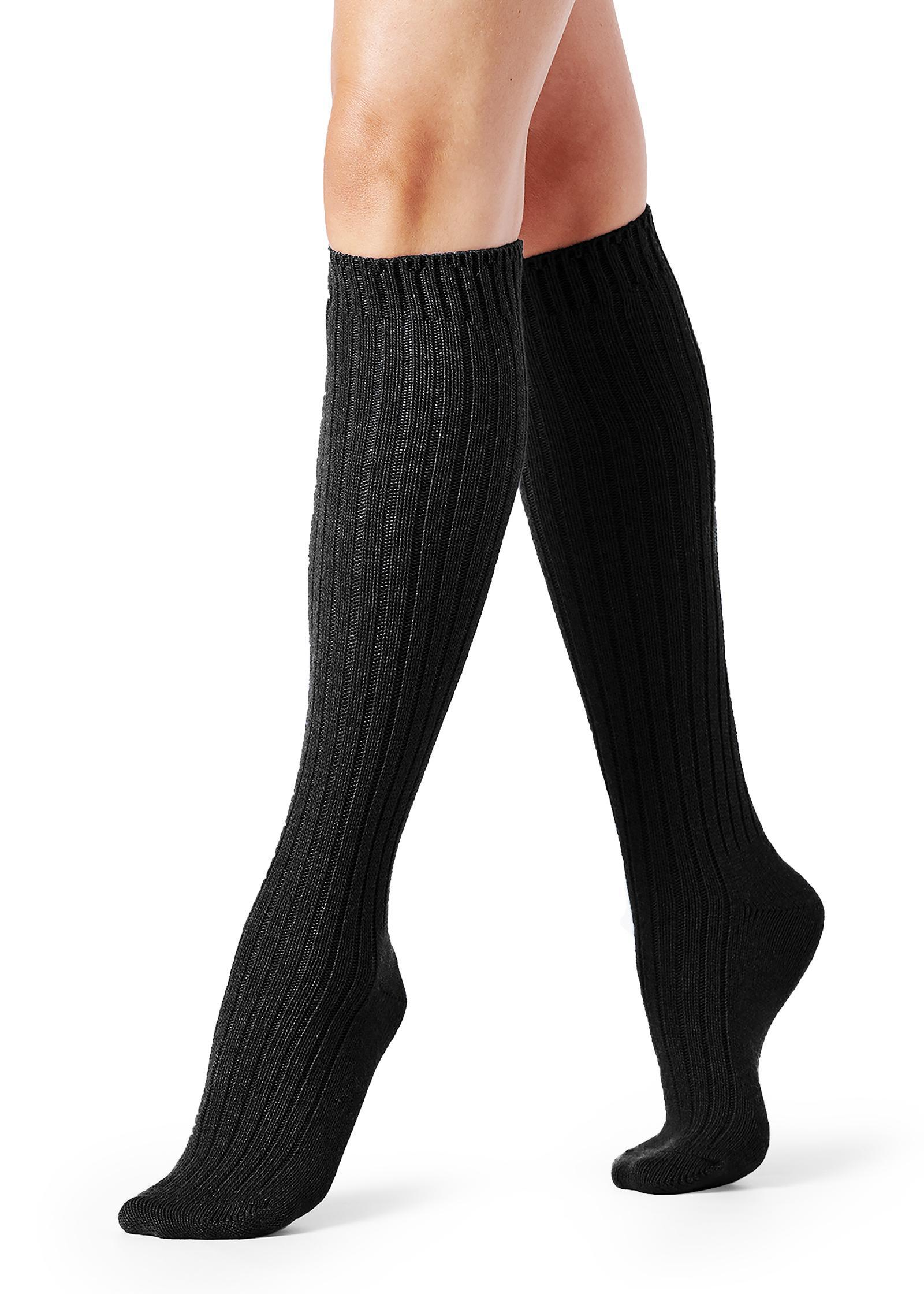 eb2a20897 Lyst - Calzedonia Tall Ribbed Socks With Wool And Cashmere in Black