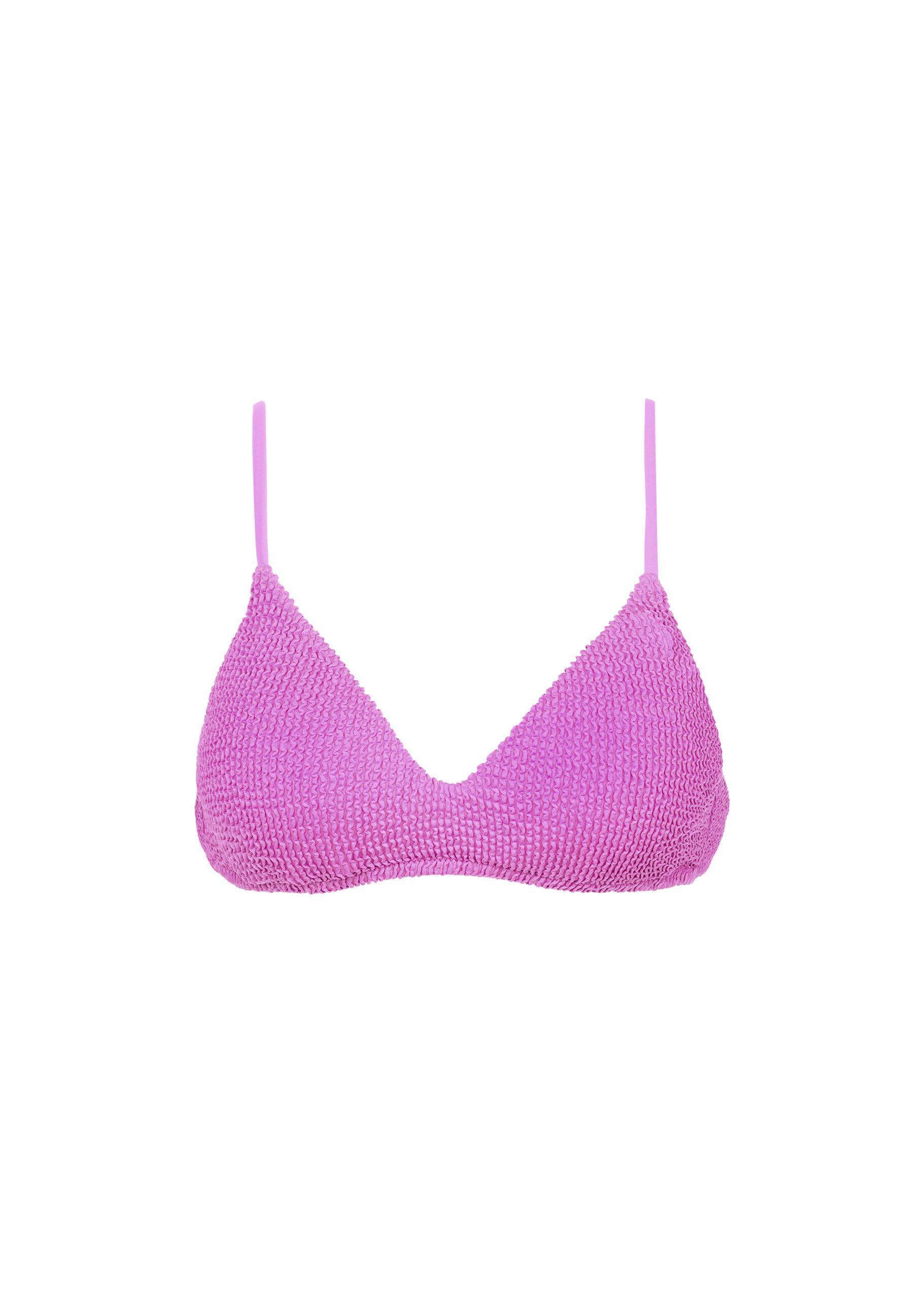 prezzo ragionevole comprando ora Vendita calda 2019 Lyst - Calzedonia Alice Crinkle Triangle Bikini Top in Purple