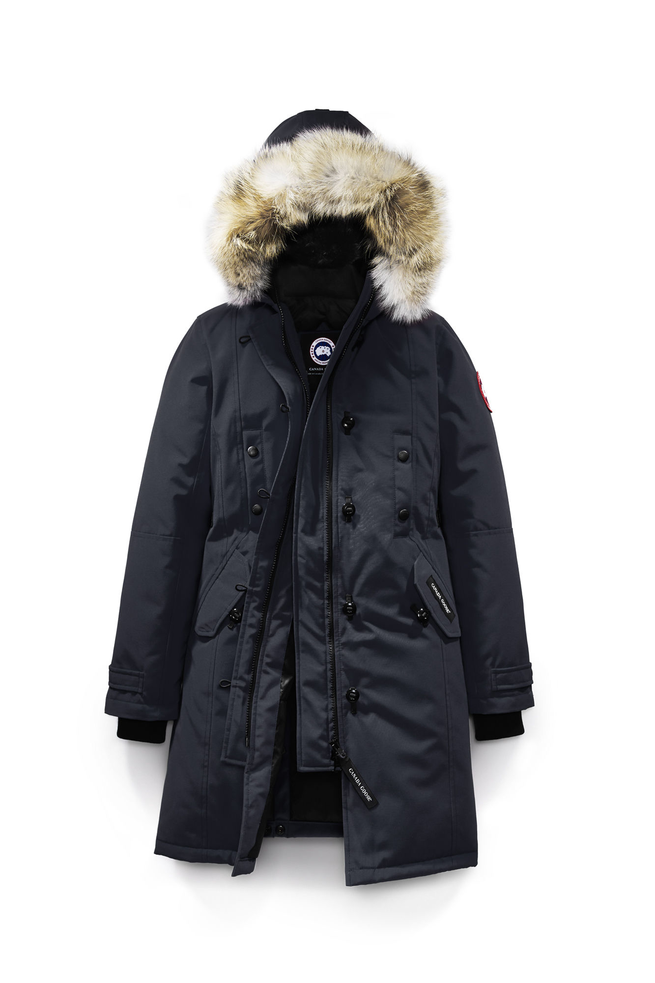 Canada Goose womens outlet price - Canada goose Kensington Parka Fusion Fit in Blue (Navy) | Lyst