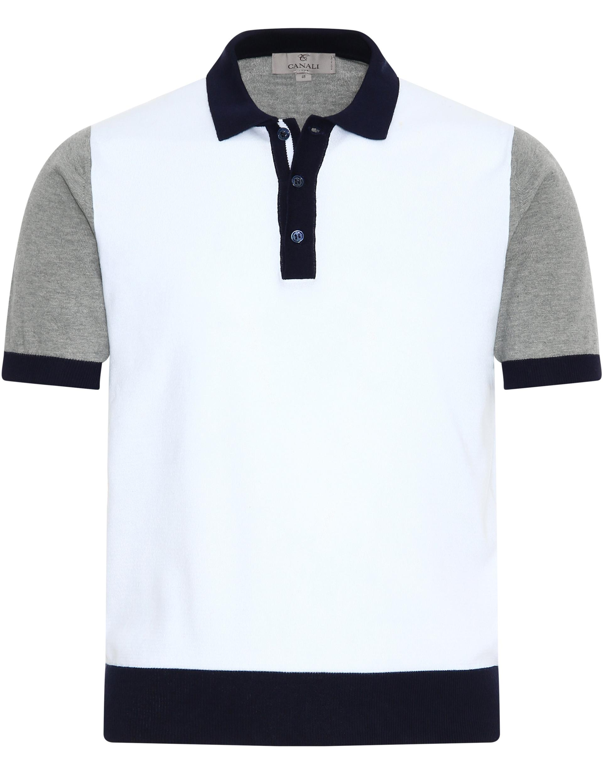 66705b8c045 Lyst - Canali White Polished Cotton Polo Shirt in White for Men