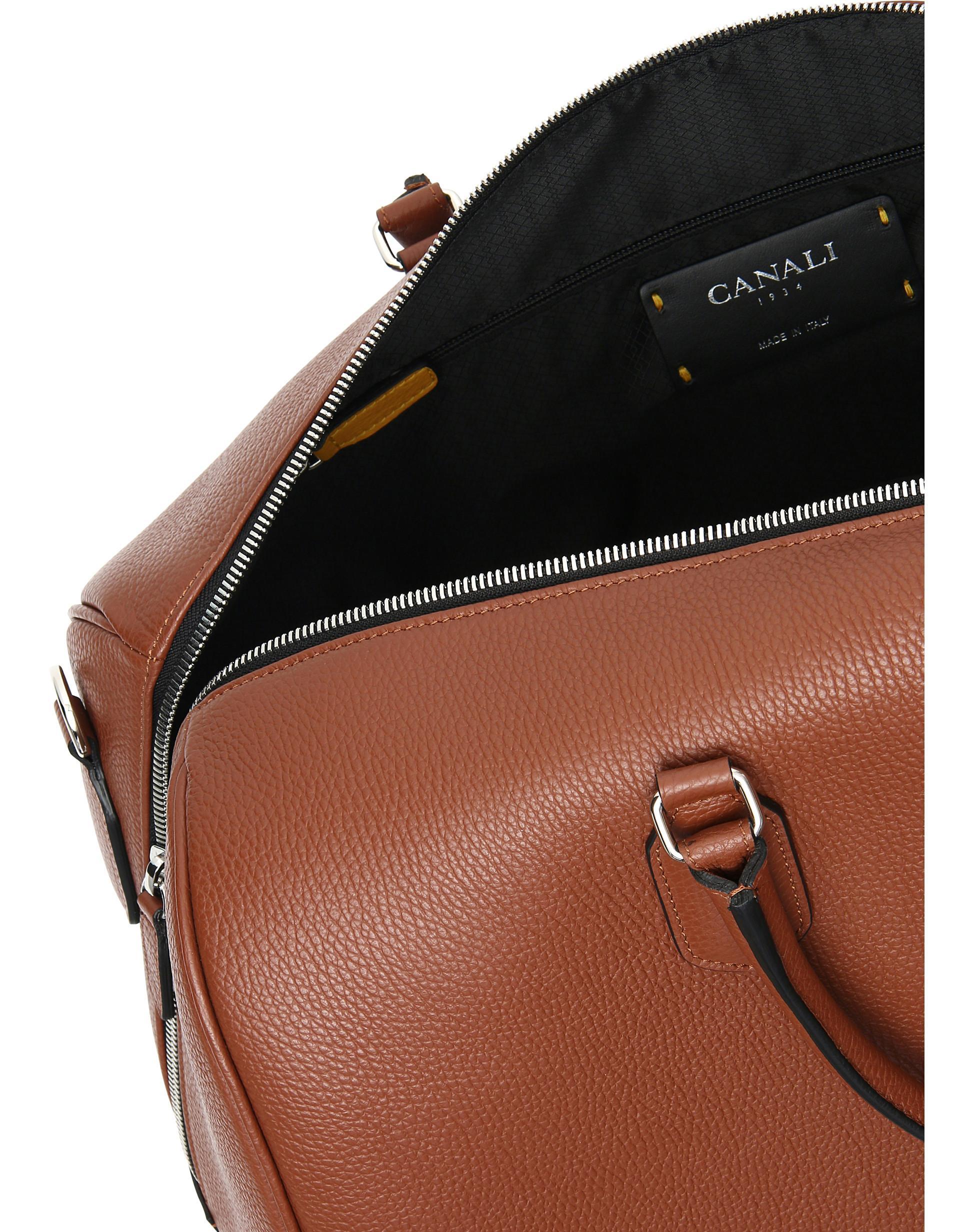 e6331b3aa Canali - Brown Terracotta Calfskin Leather Travel Duffle Bag for Men -  Lyst. View fullscreen