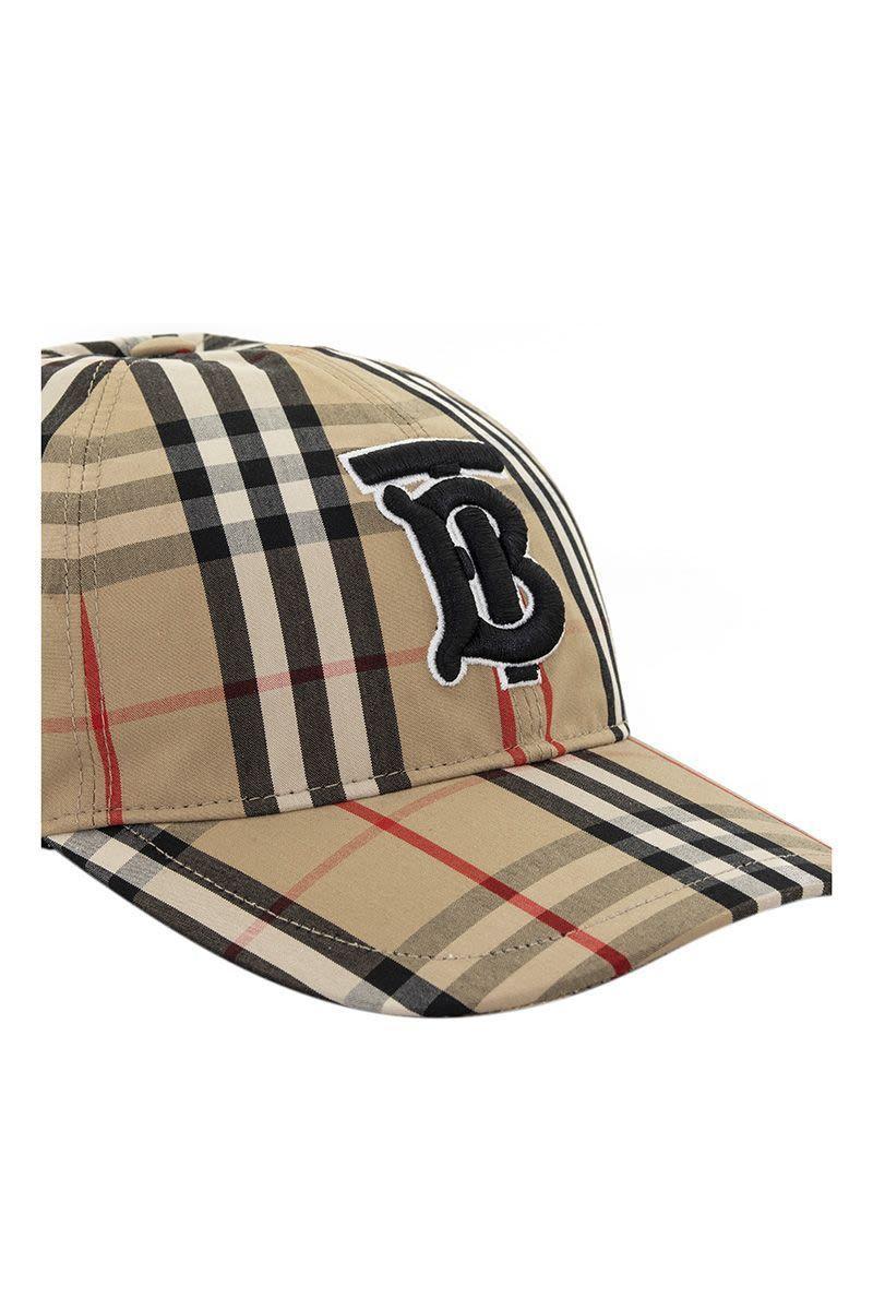9084fe18b64b03 Burberry - Multicolor Monogram Motif Vintage Check Baseball Cap for Men -  Lyst. View fullscreen