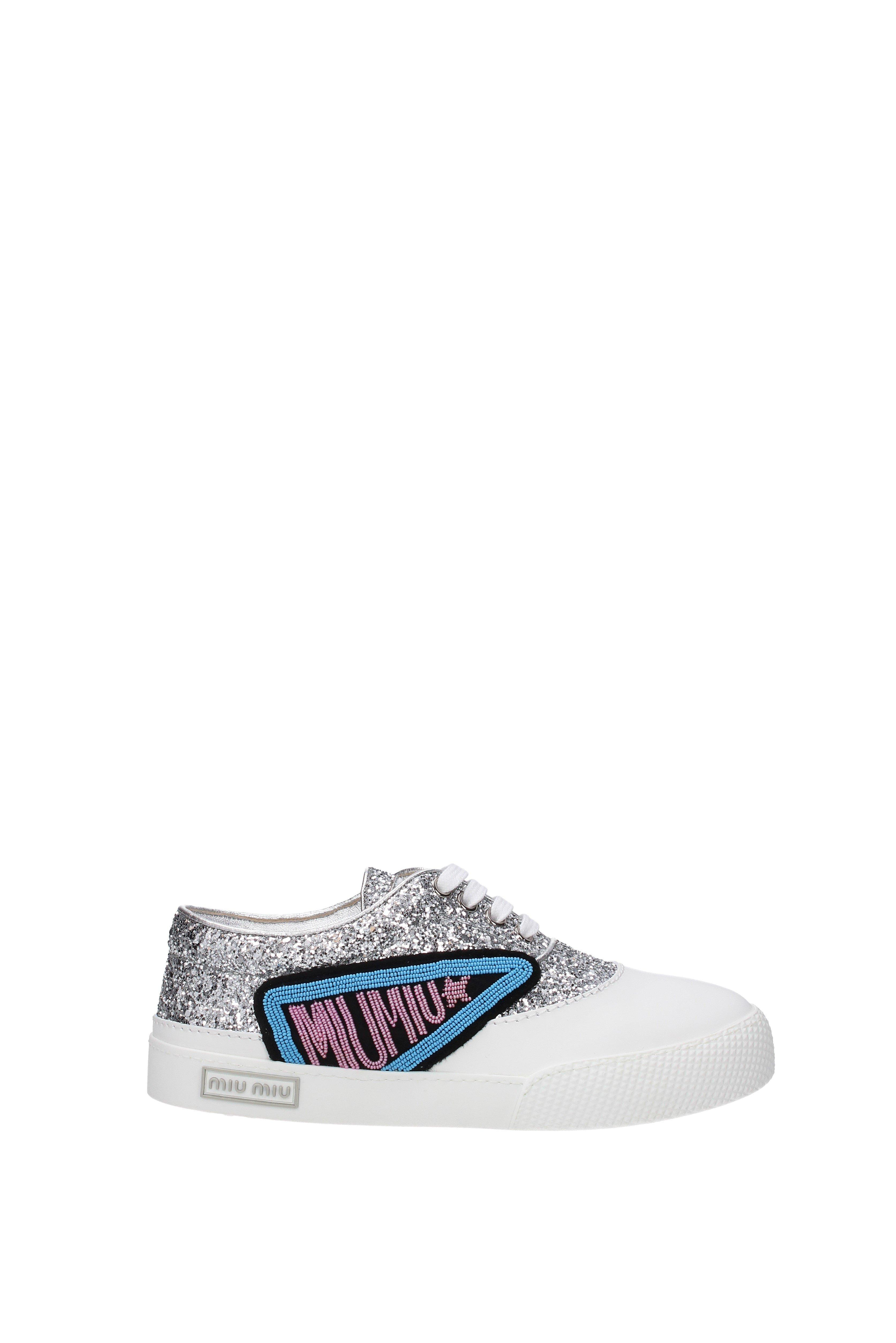 ff88922f57c Lyst - Miu Miu Sneakers Women Silver in Metallic