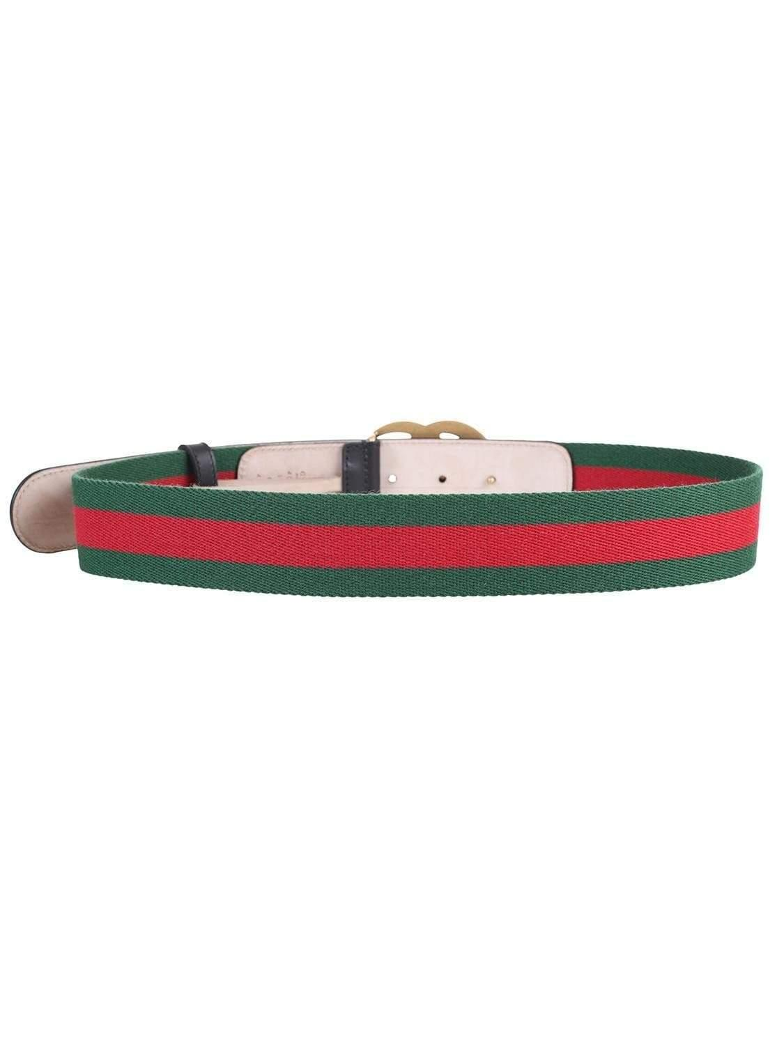 ff2d135f368 Gucci Green   Red Web Gg Belt in Green - Save 2% - Lyst
