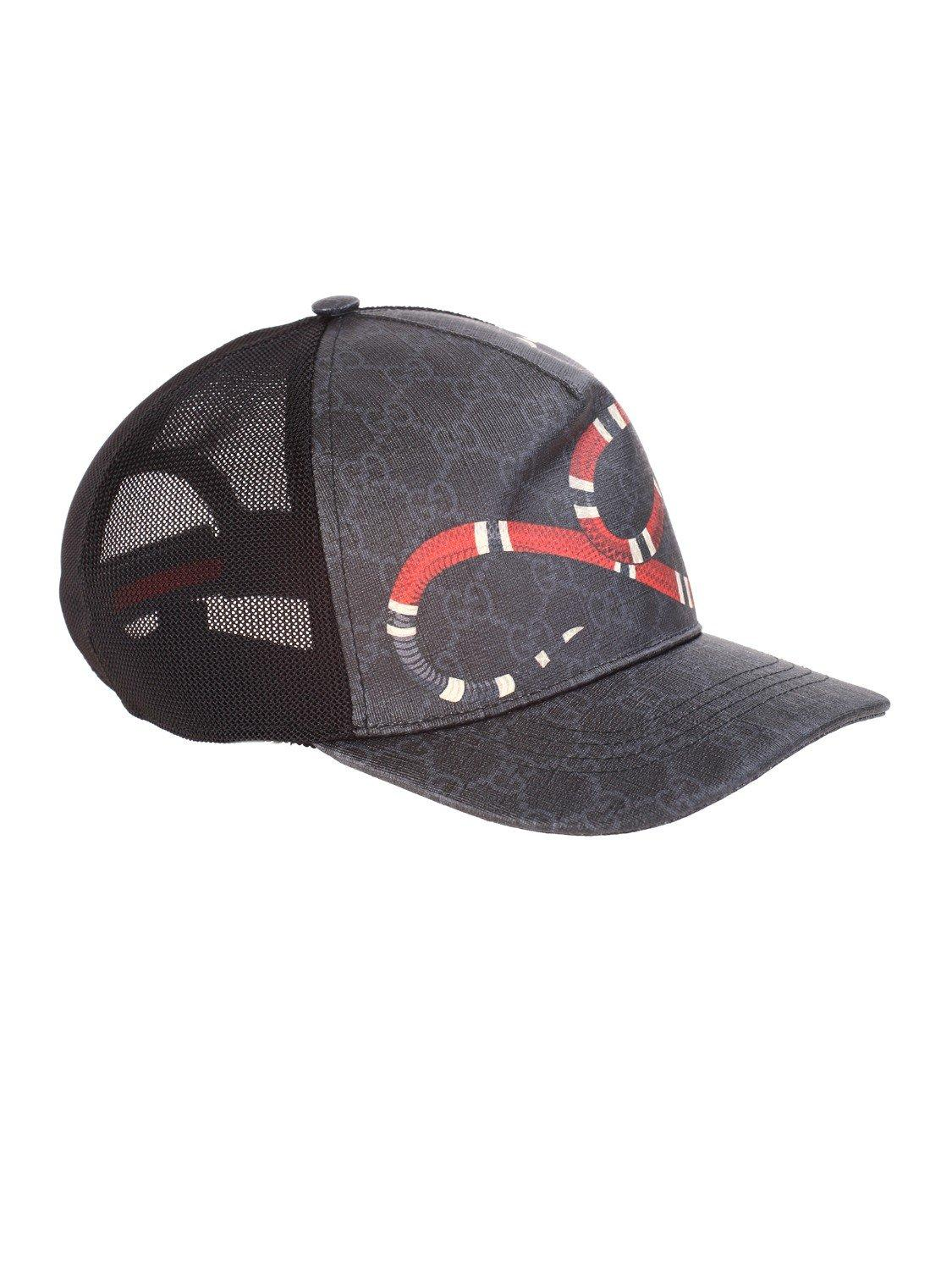 5ed17f895 Gucci Baseball Cap In Gg Supreme Fabric With Kingsnake Print in Black for  Men - Lyst