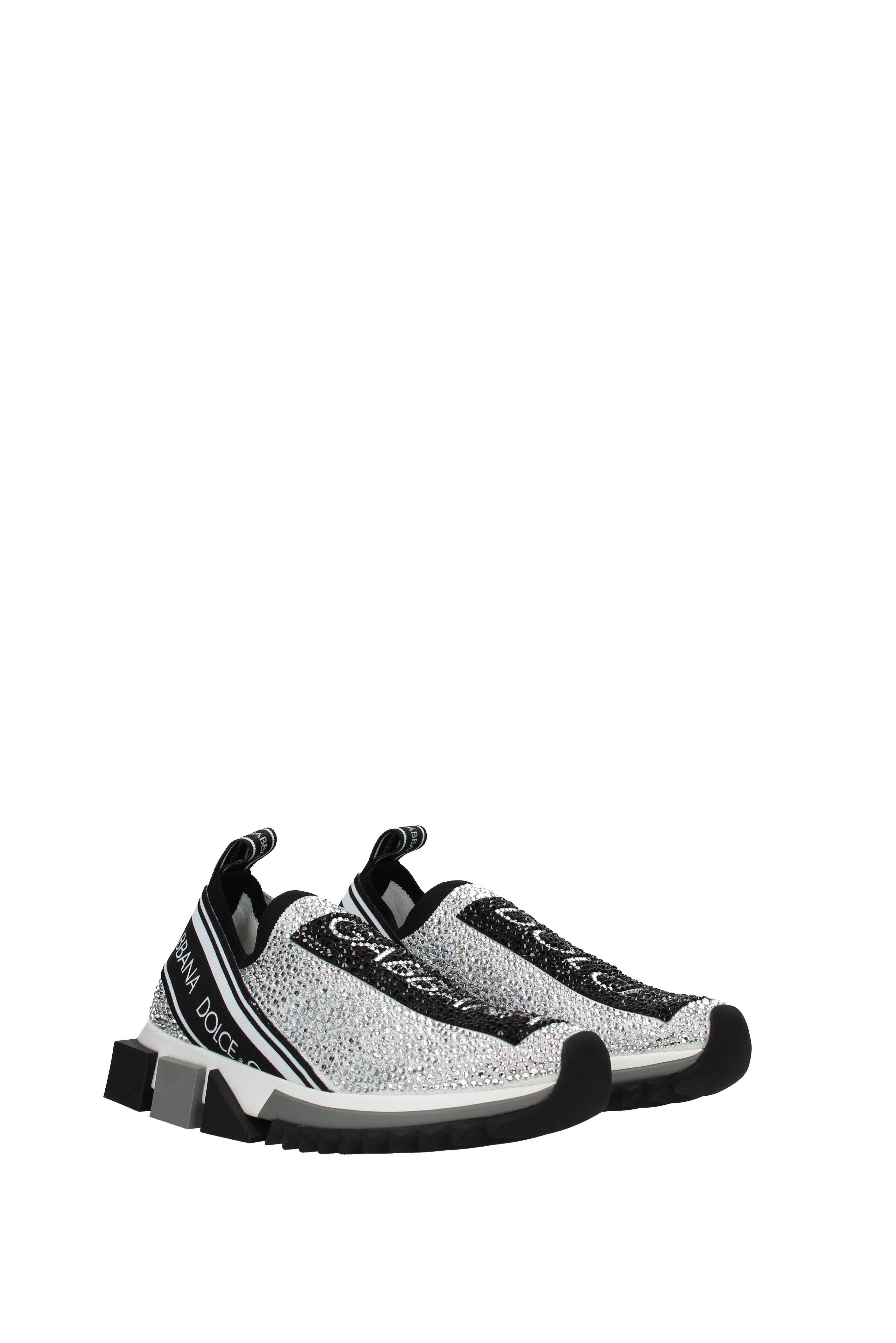 31420df51 Dolce & Gabbana - Black Sneakers Sorrento Women Silver - Lyst. View  fullscreen