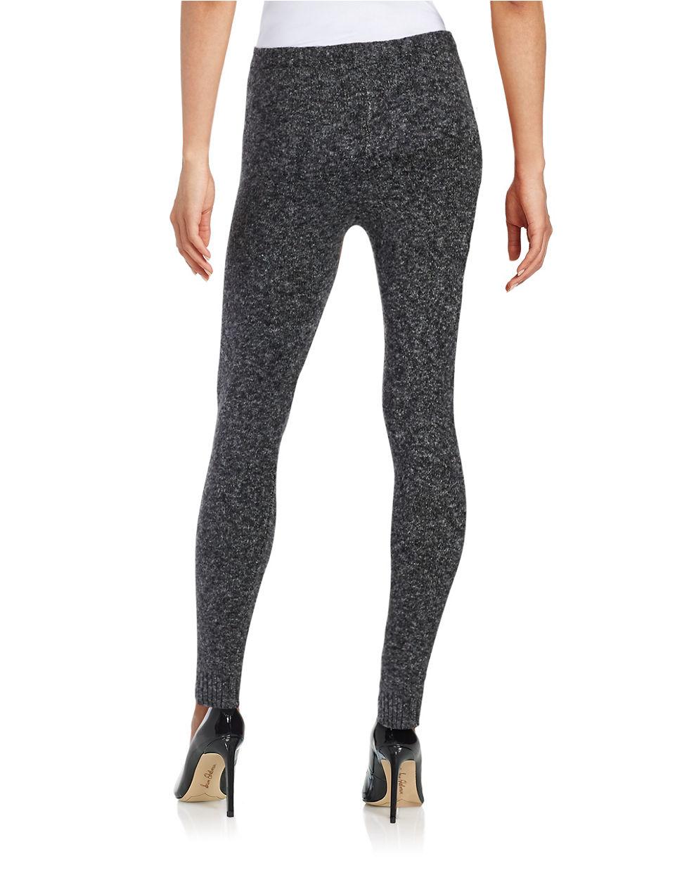 Hue Tweed Sweater Leggings in Black | Lyst