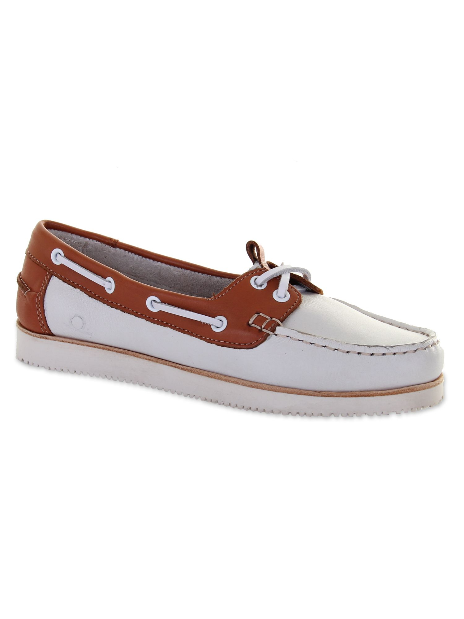 chatham josie wedge boat shoes in white lyst