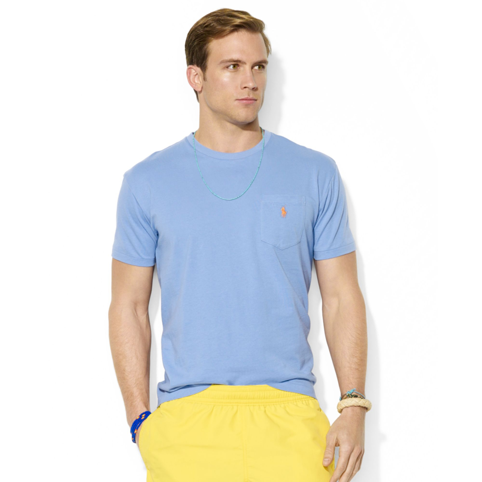 Lyst - Polo Ralph Lauren Polo Classicfit Cotton Jersey Pocket Tshirt ... 84a97f0e5b20