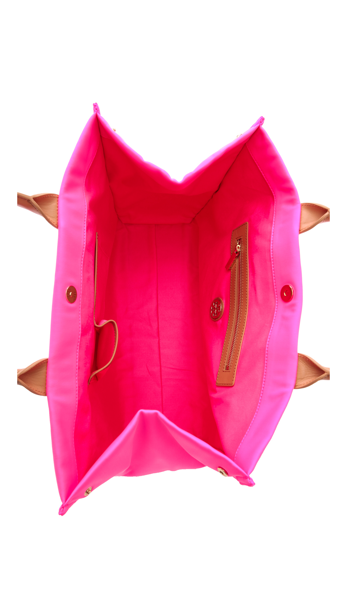 b48306e458c Lyst - Tory Burch Ella Neoprene Tote Green in Pink