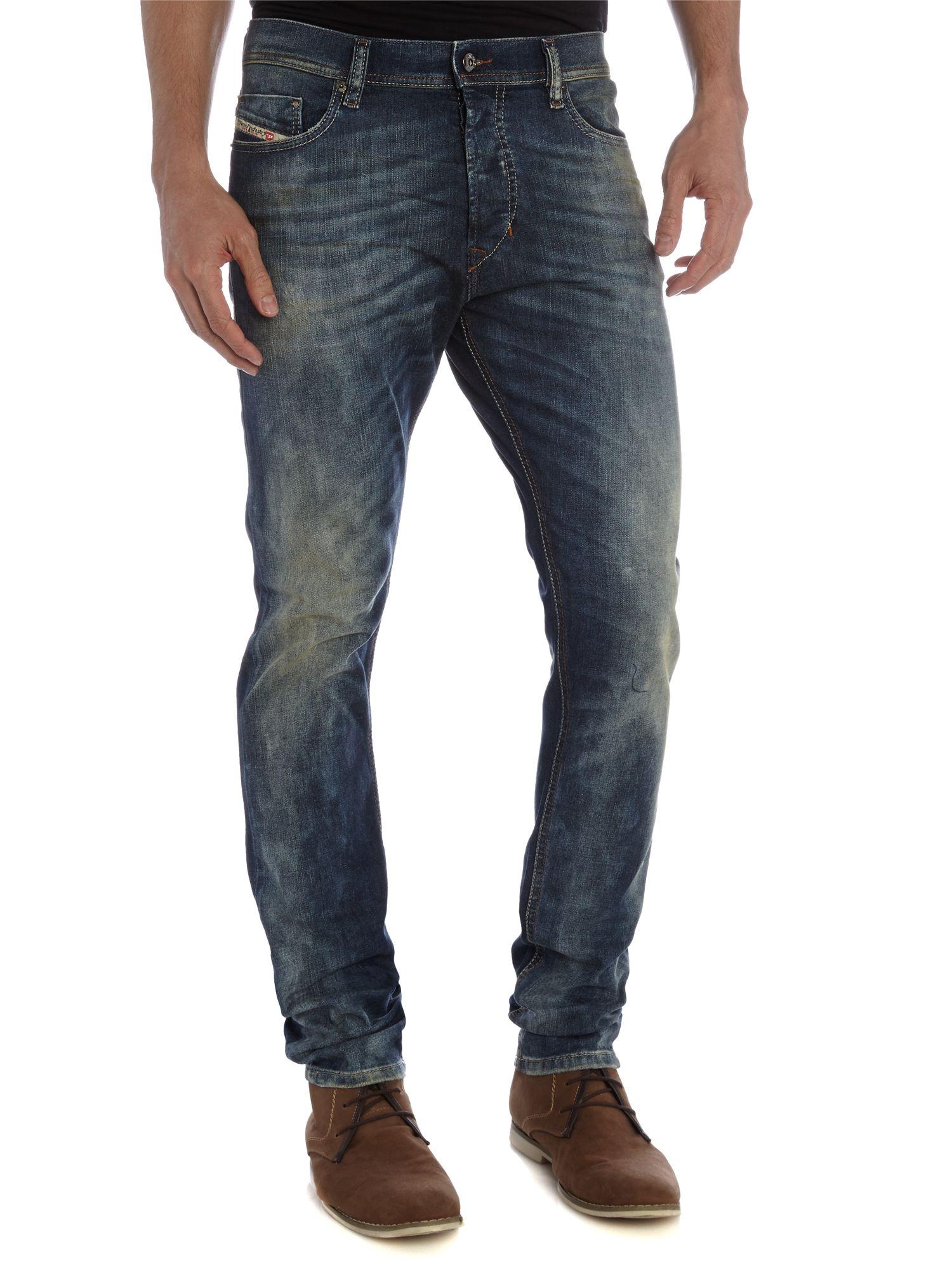 lyst diesel tepphar slim fit jean in blue for men