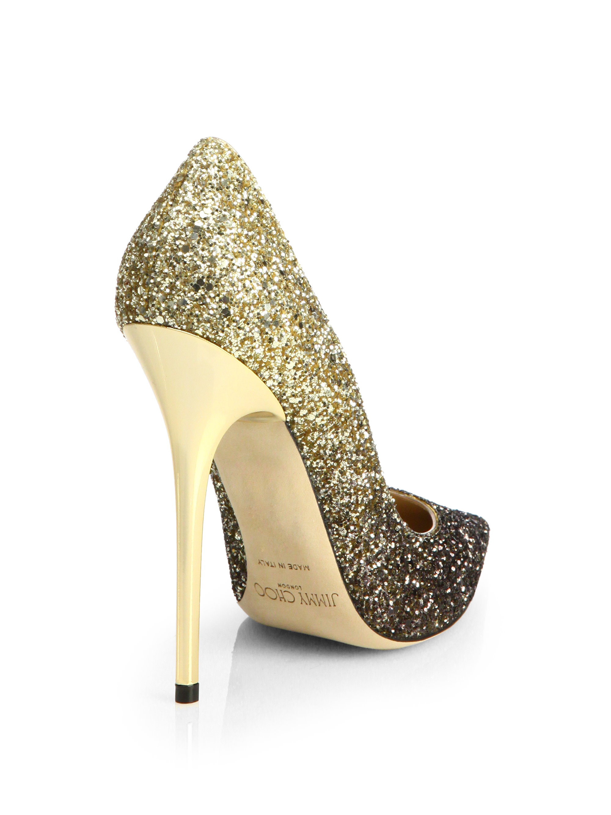 9d81c24edf ... release date lyst jimmy choo anouk 120 glitter degrade pumps in  metallic c21cf 2fcdf