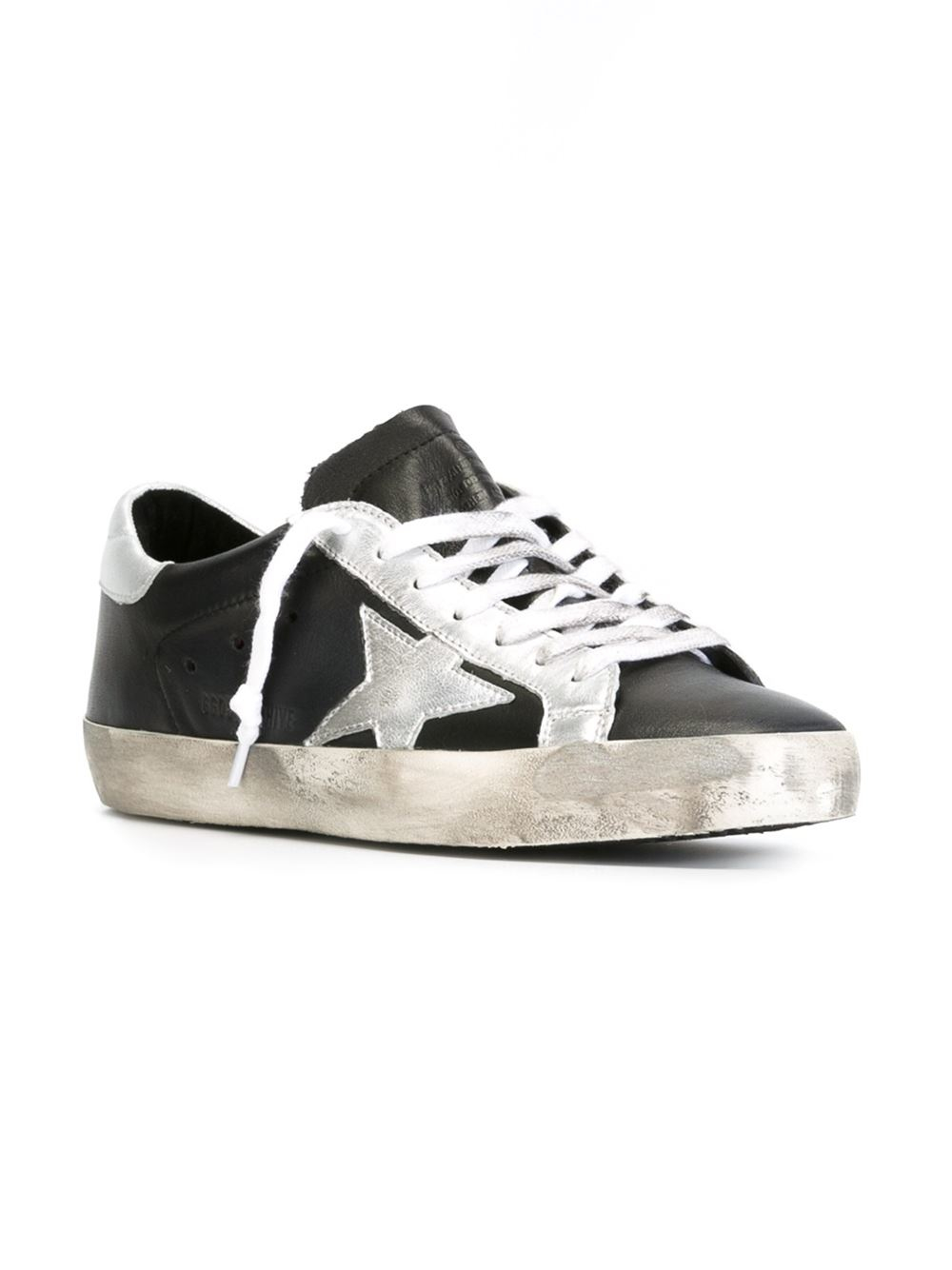 golden goose deluxe brand 39 archive super star 39 sneakers in black for men lyst. Black Bedroom Furniture Sets. Home Design Ideas