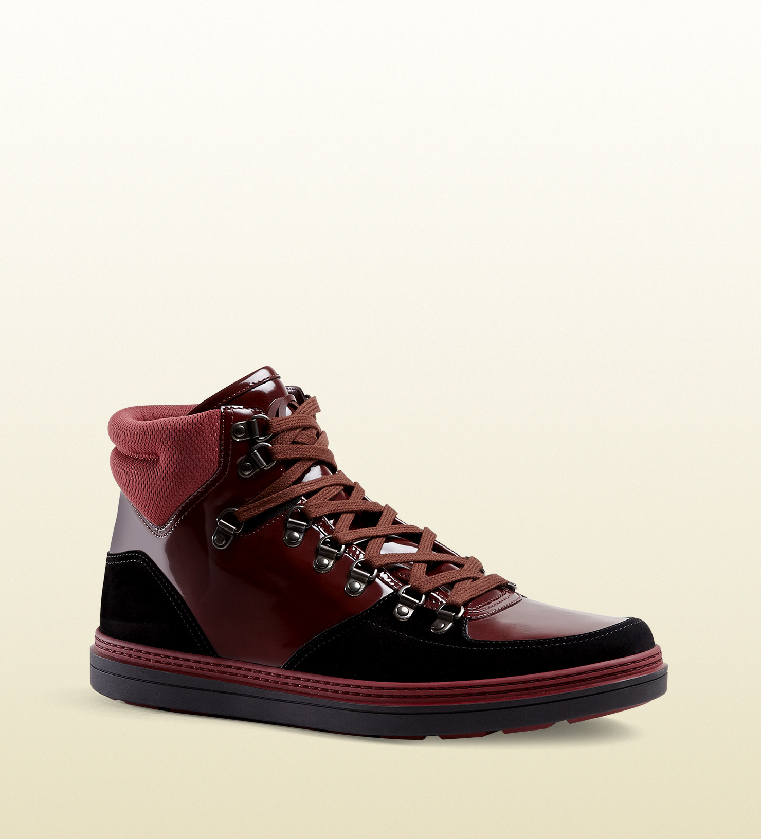 fa1947867 Gucci Contrast Combo High-top Sneaker in Black for Men - Lyst