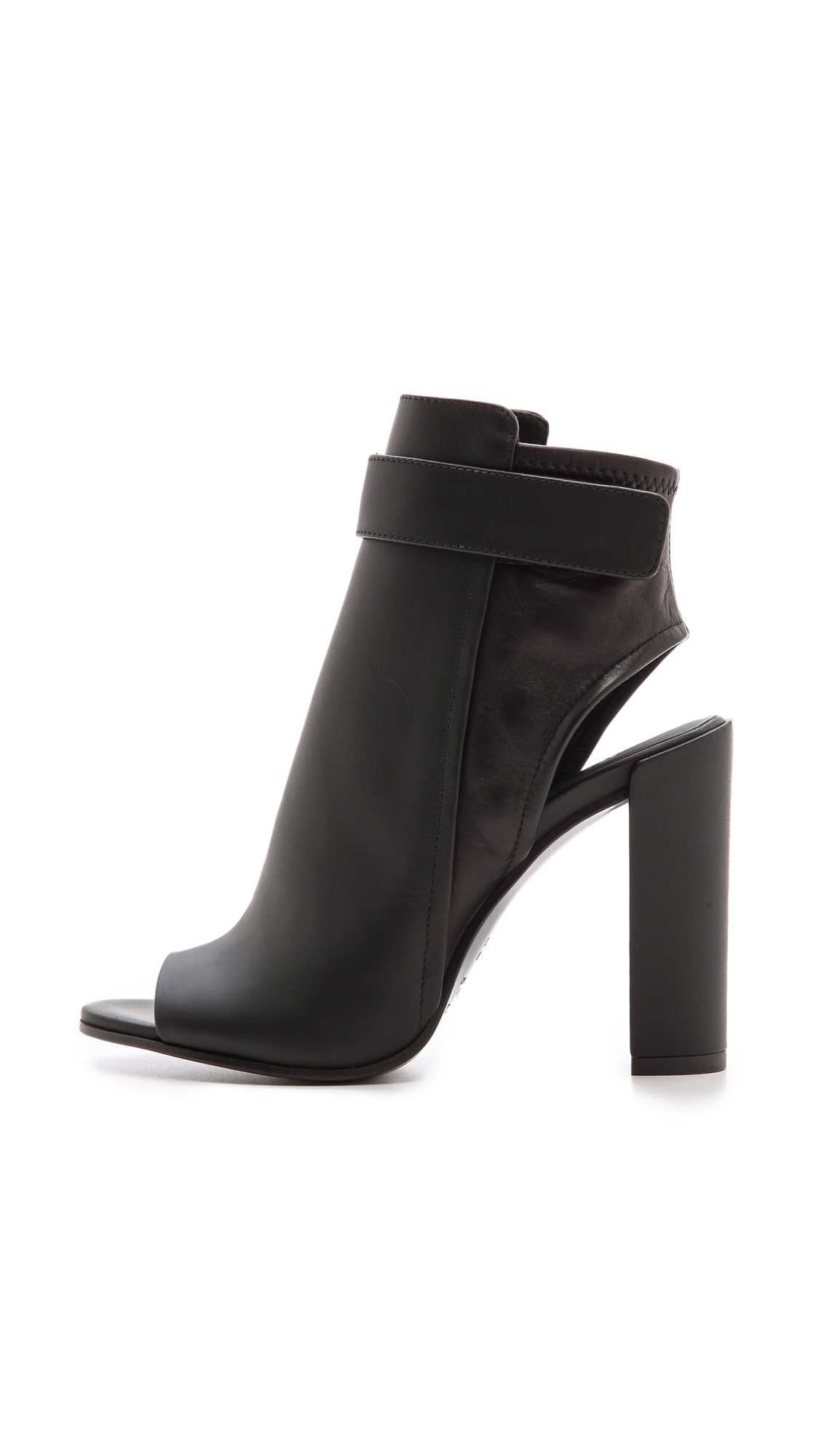 Vince Brigham Open Toe Booties Black In Black Lyst