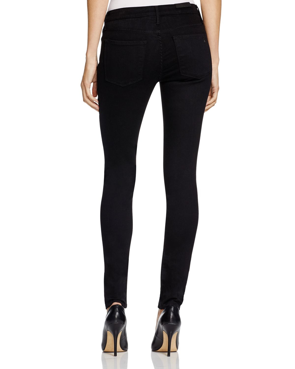 Black orchid Jude Mid Rise Super Skinny Basic Jeans In Stay Black ...