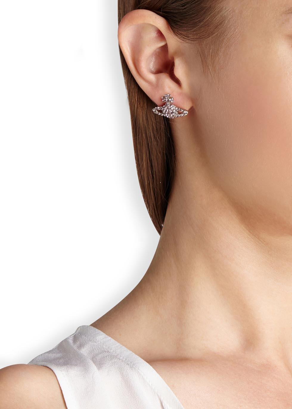 d7b23e5af Vivienne Westwood Grace Bas Relief Silver Tone Orb Earrings in ...