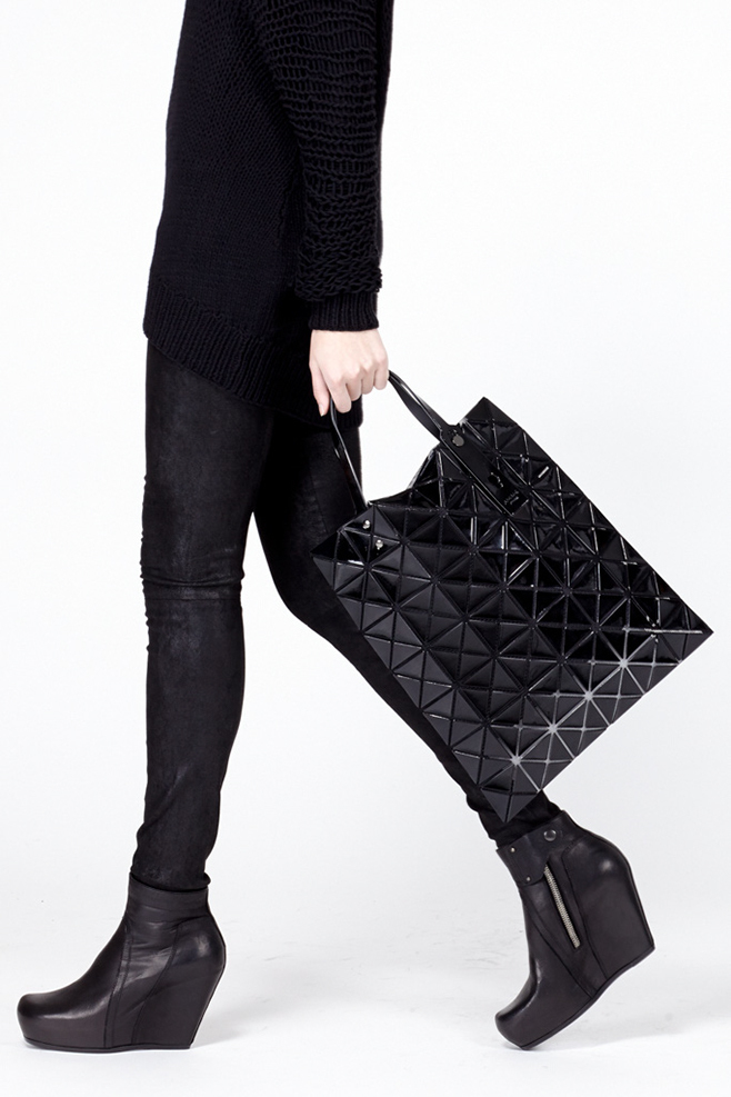 9cc401ae4462 Lyst - Bao Bao Issey Miyake Black Large Lucent Tote in Black