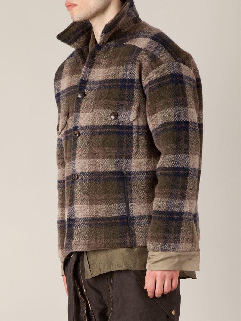 Men S Vine Woolrich Plaid Green Lumberjack Shirt Jacket