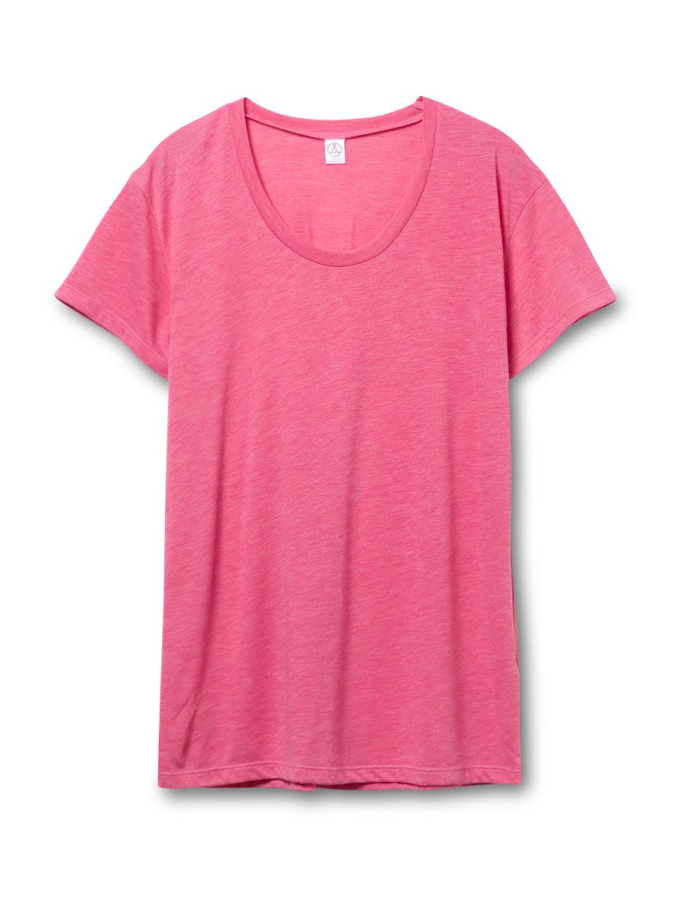 alternative apparel kimber melange burnout t shirt in pink