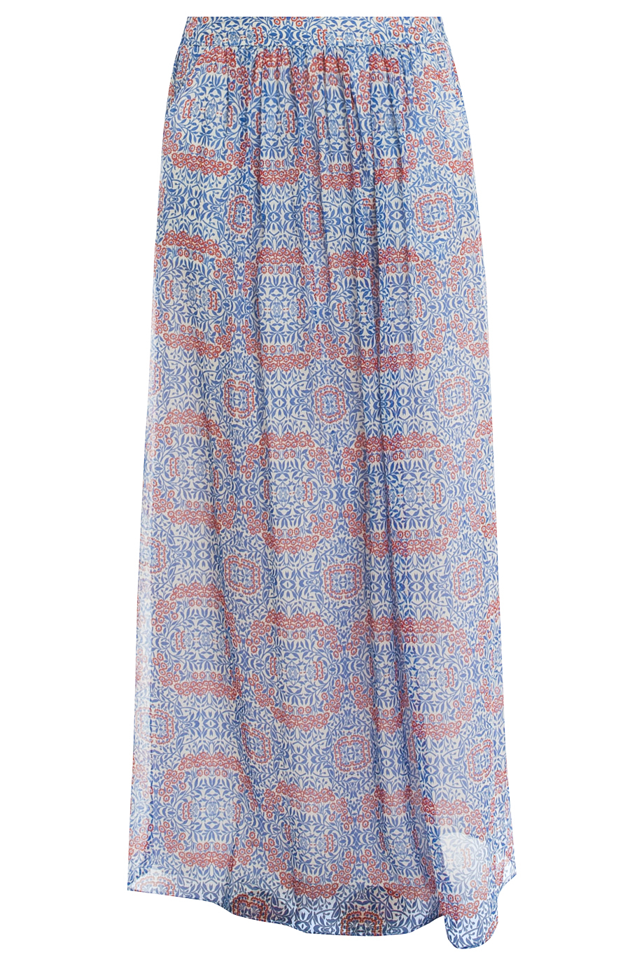 paul joe floral skirt in blue lyst