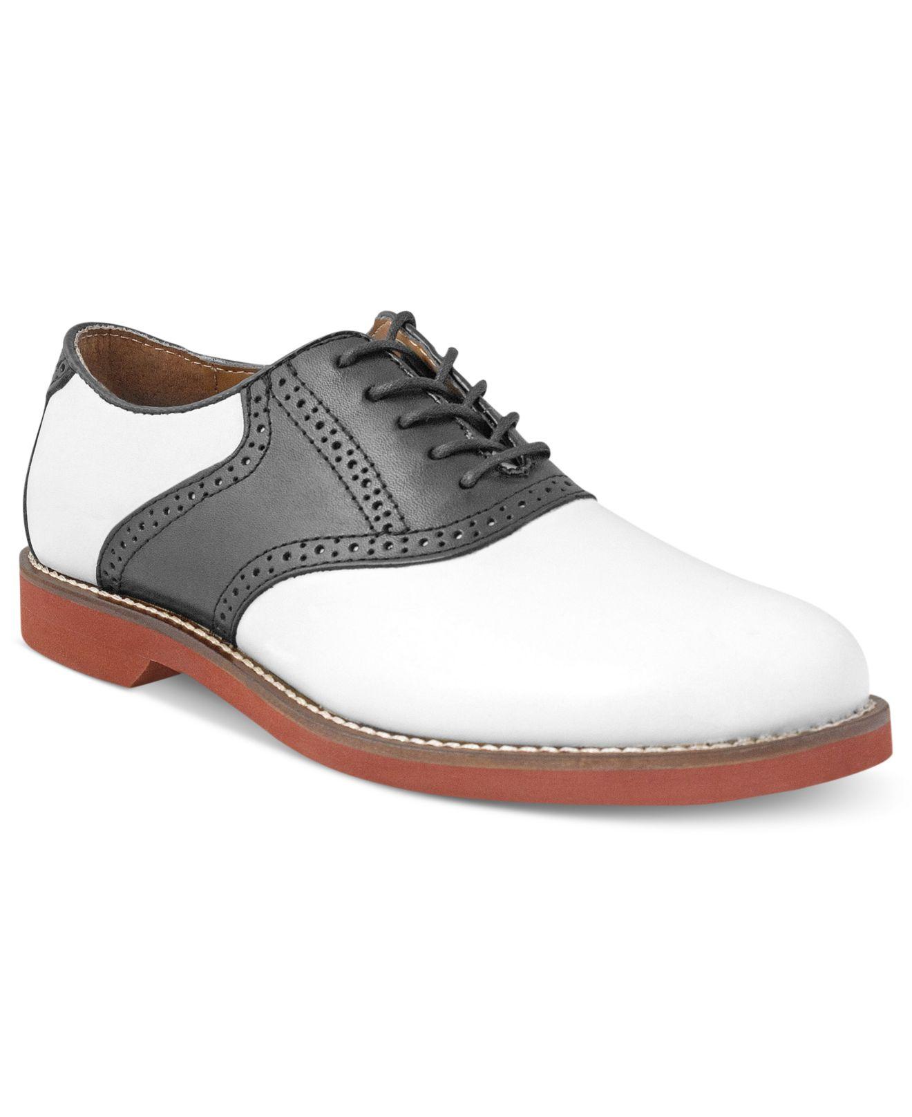 g h bass co bass burlington plain toe saddle shoes in