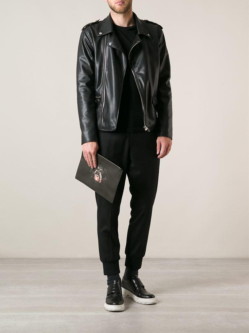 Givenchy Antigona Rottweiler Print Clutch In Black For