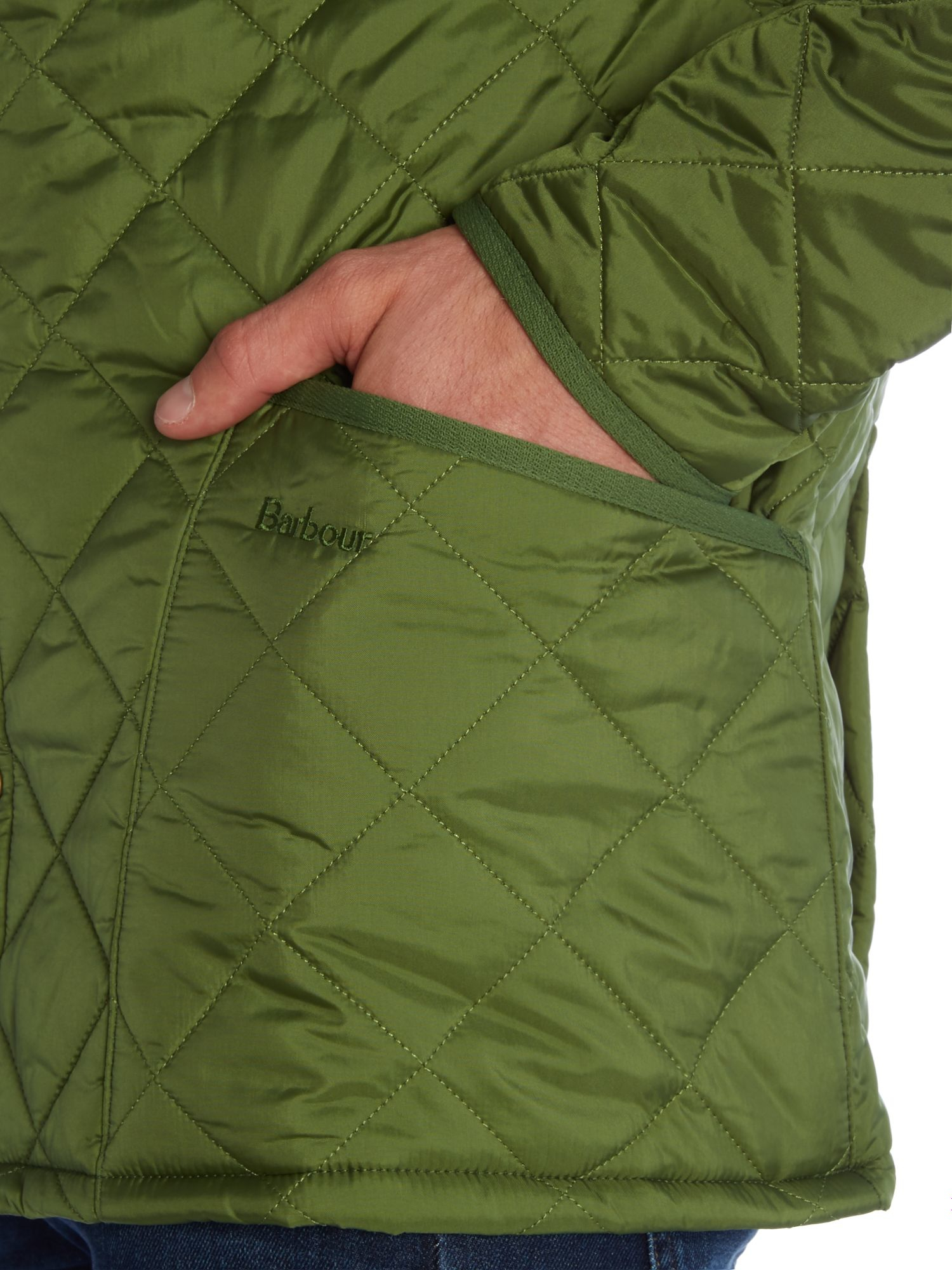 Barbour Heritage Liddesdale Quilted Jacket In Green For