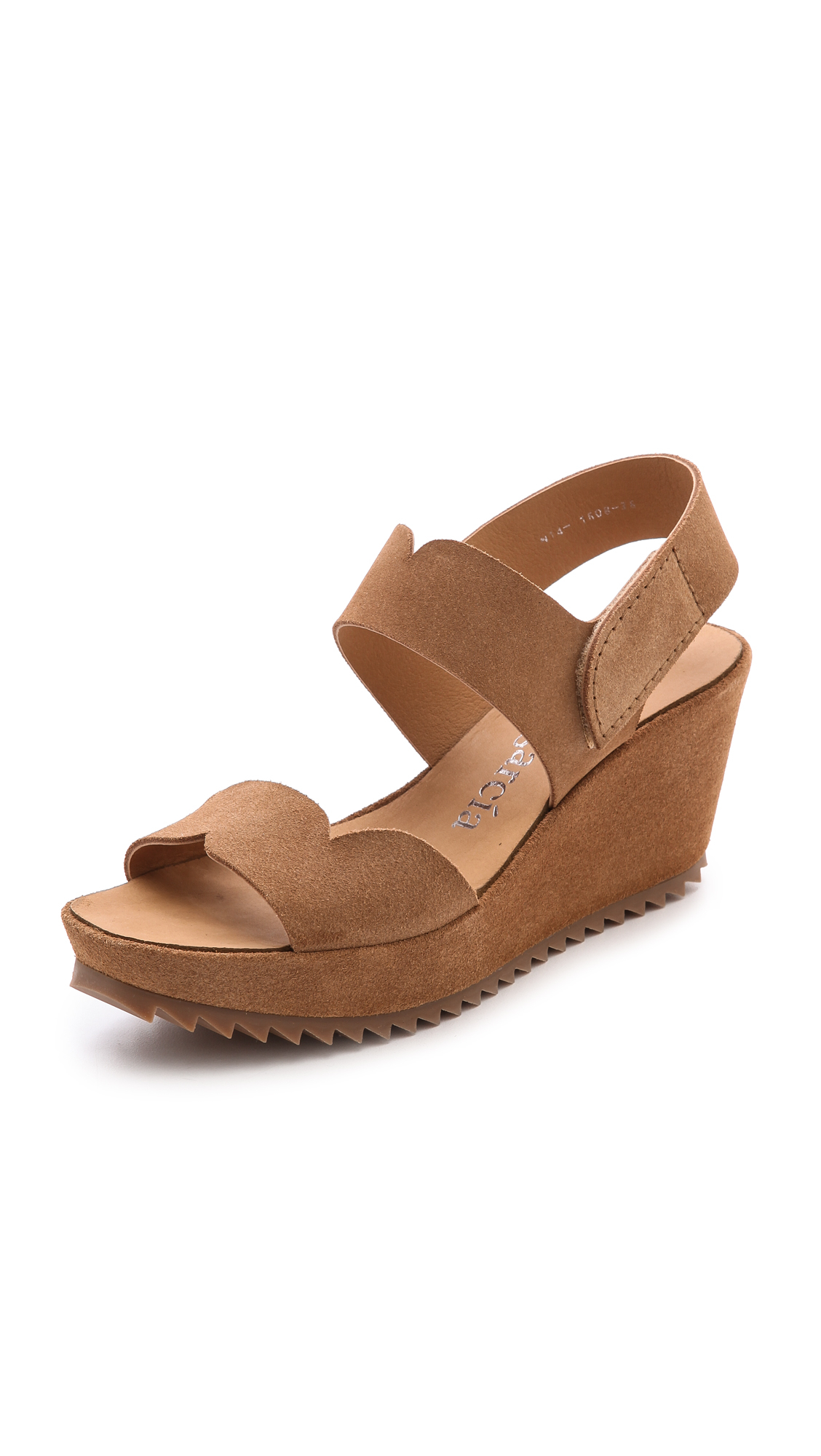 Lyst Pedro Garcia Filippa Low Wedge Sandals Tan In Brown
