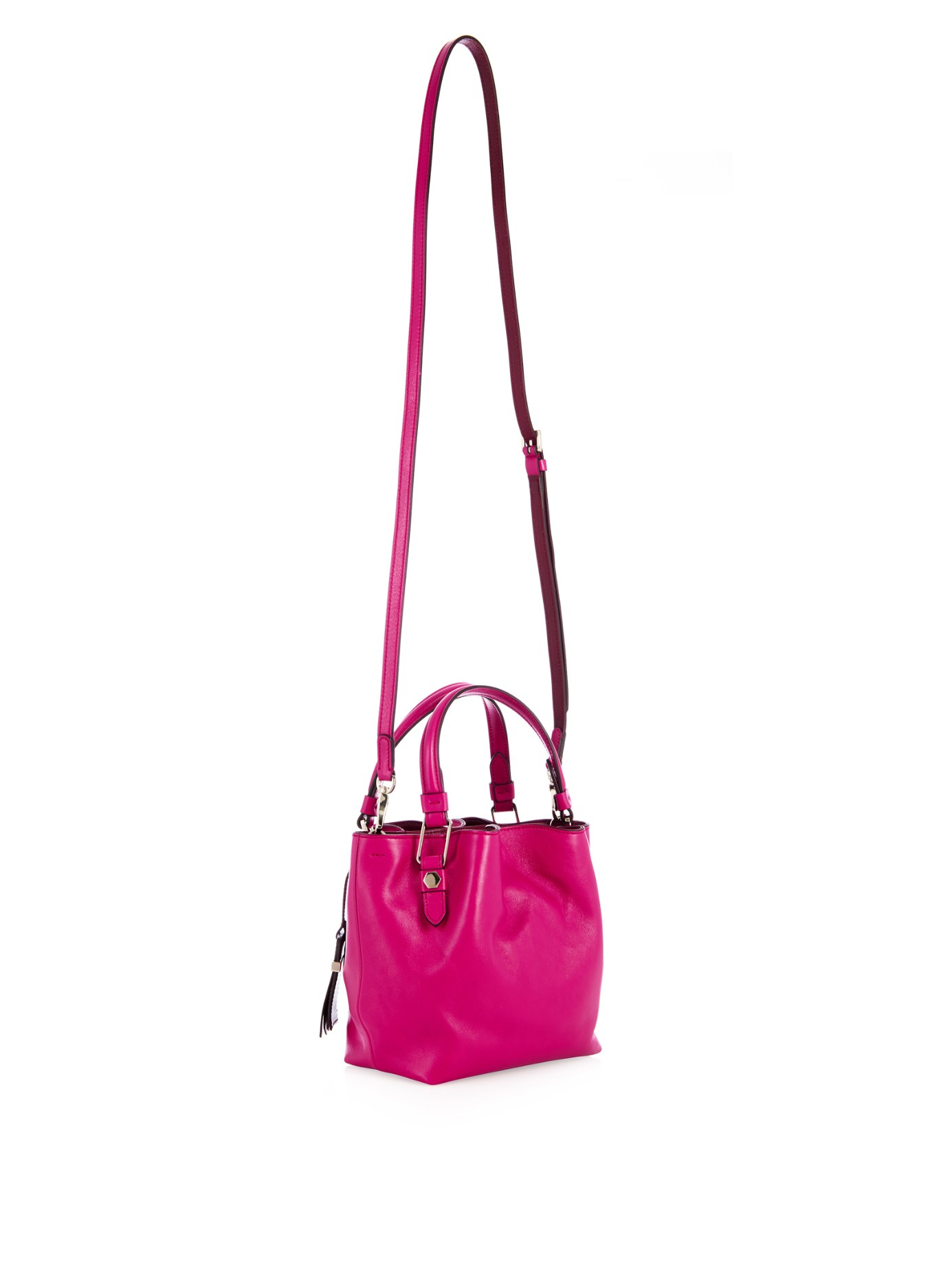 Lyst Tods Flower Mini Leather Cross Body Bag In Pink