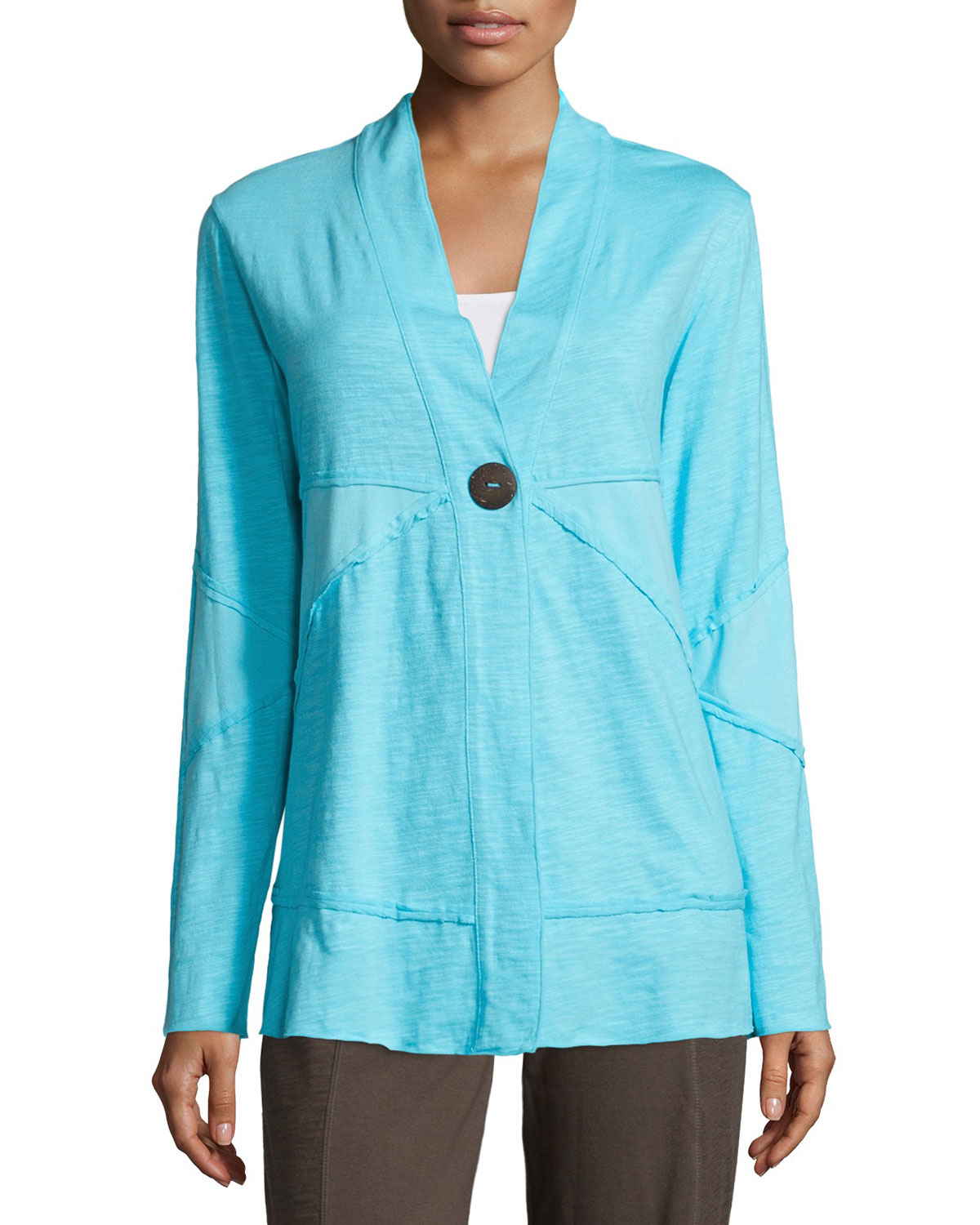 3696fc7f5ca94f Lyst - Neon Buddha Forever Jacket With Coconut Buttons in Blue