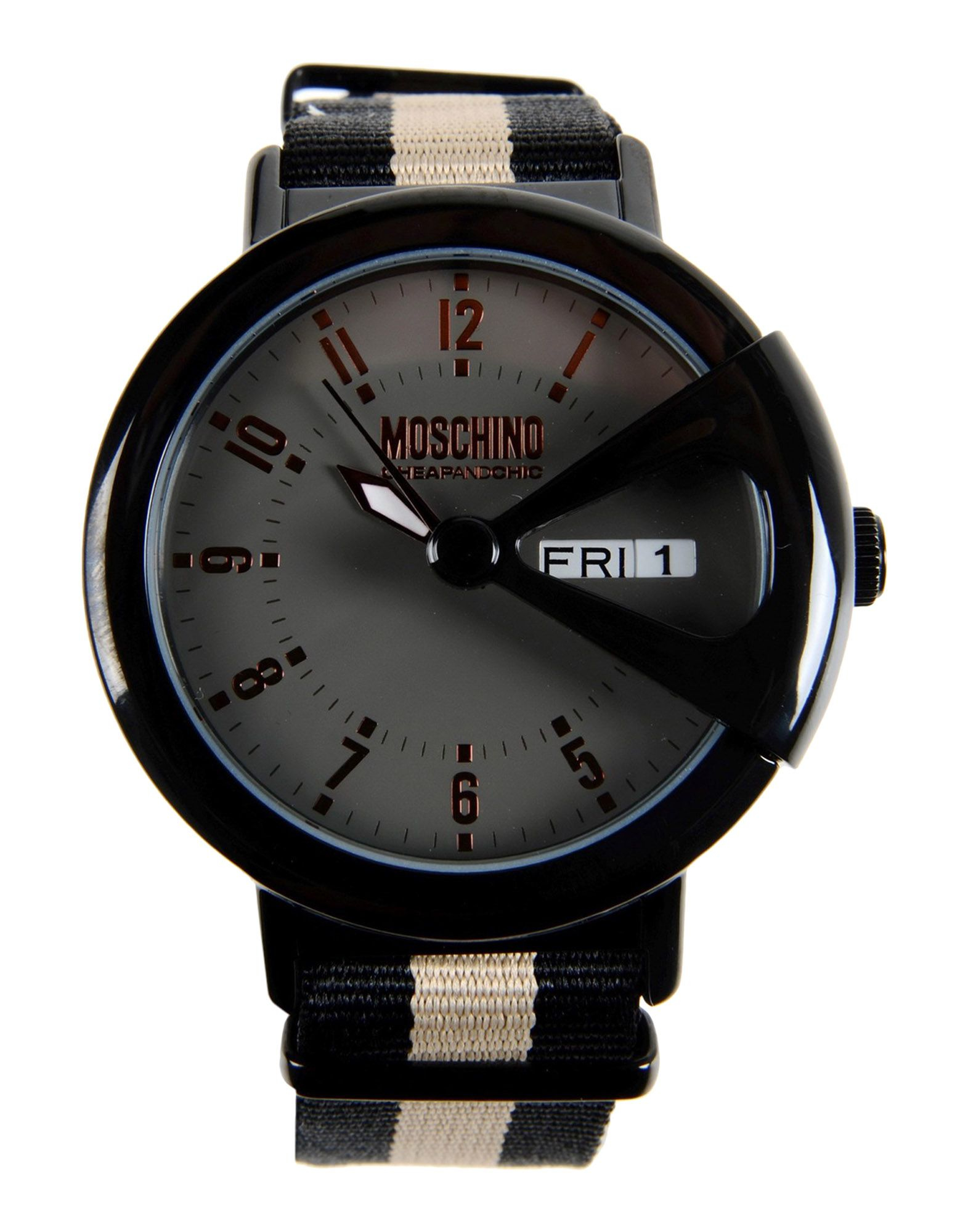 boutique moschino wrist in black for lyst