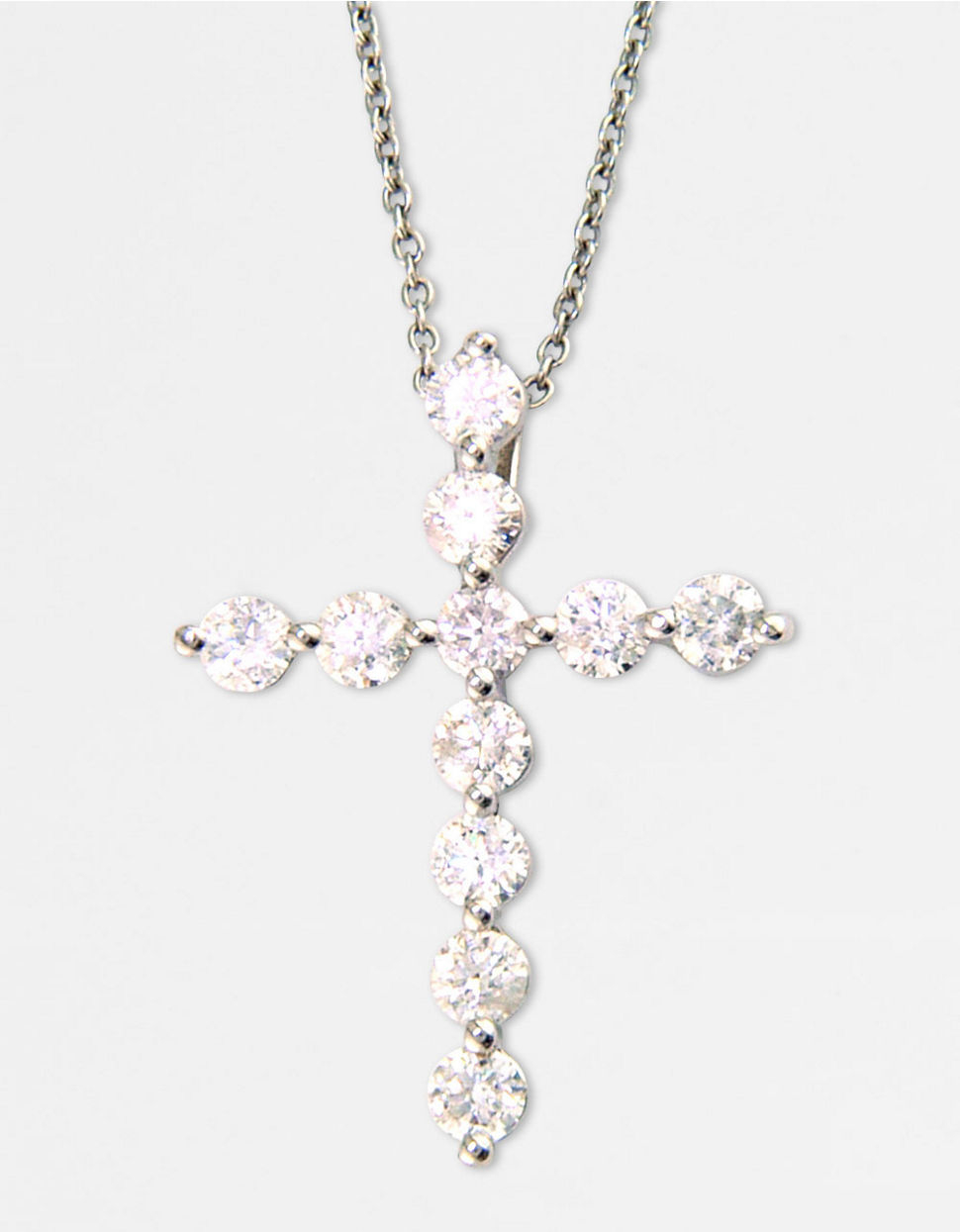 effy classique 14k white gold diamond cross pendant. Black Bedroom Furniture Sets. Home Design Ideas