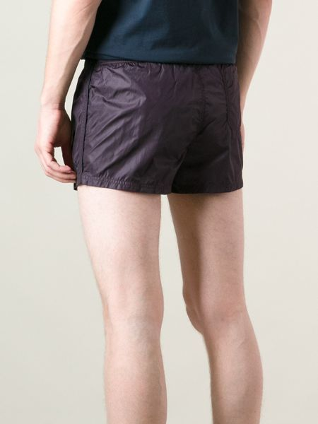Gucci Stripe Detail Track Shorts In Purple For Men Pink