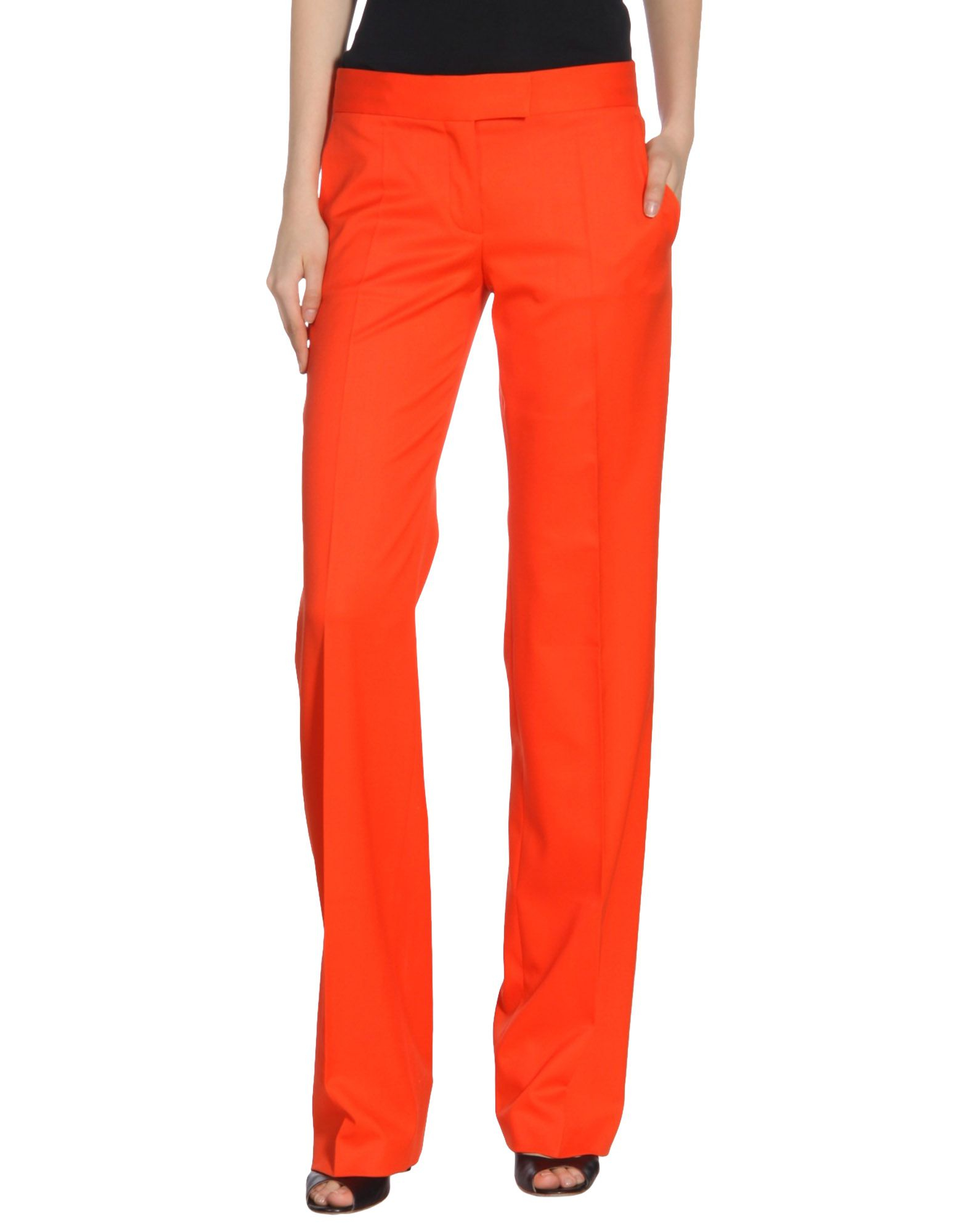 Cool Acne Casual Pants In Orange  Lyst