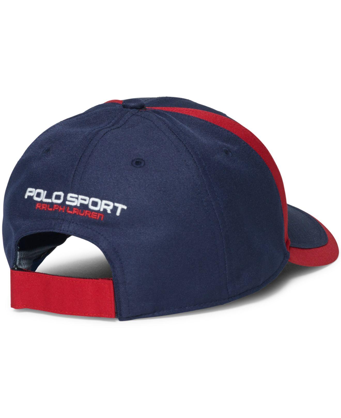 3e0fe833 Polo Ralph Lauren Polo Sport Usa Baseline Hat in Blue for Men - Lyst