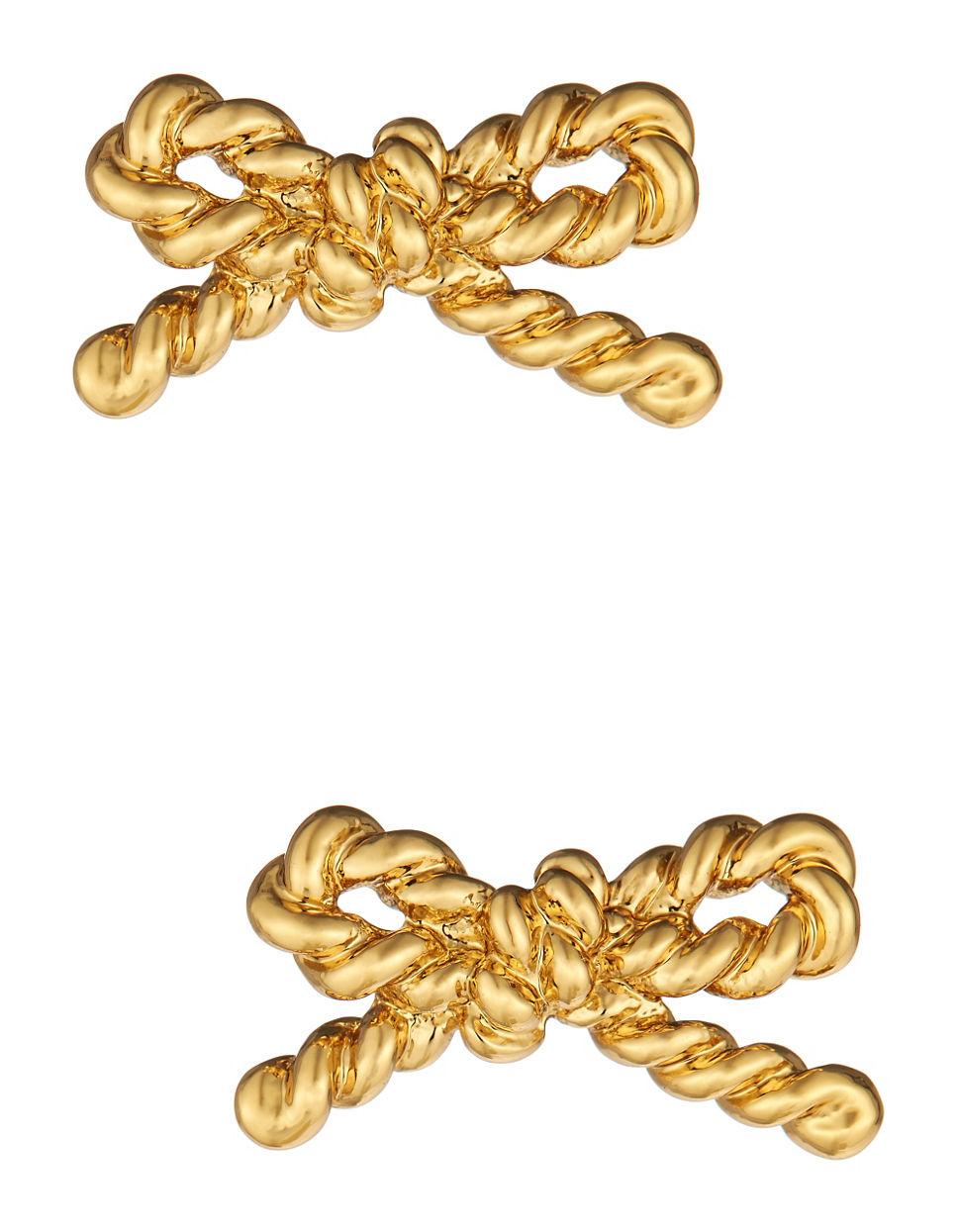 Kate Spade Skinny Mini Rope Studs in Gold | Lyst