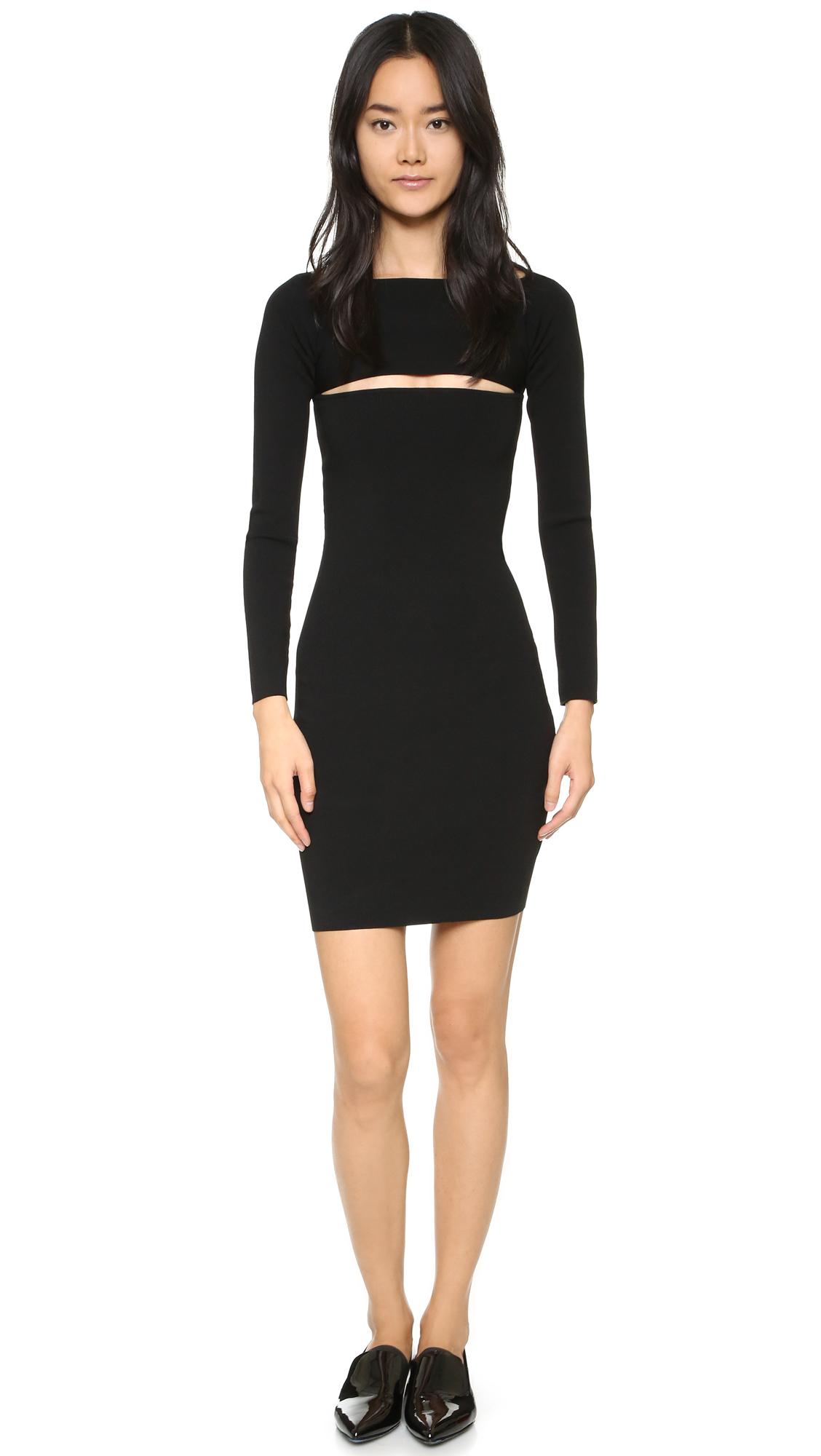 T by alexander wang Needle Knit Bandeau Dress in Black  Lyst